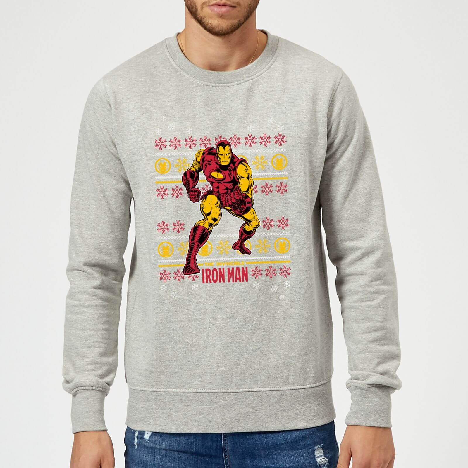 Kersttrui Man.Marvel Comics The Invincible Iron Man Kersttrui Grijs Zavvi Nl