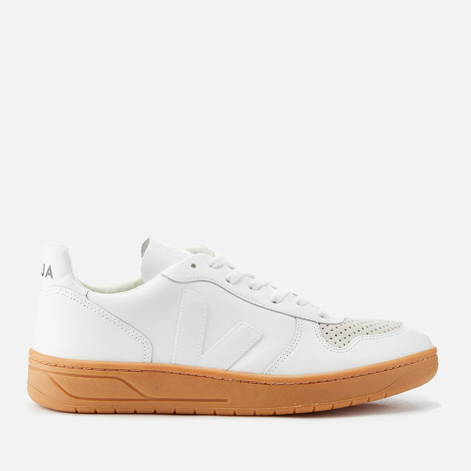 c86273eae9baa Veja Men s V-10 Leather Trainers - Extra White Natural - Free UK Delivery  over £50