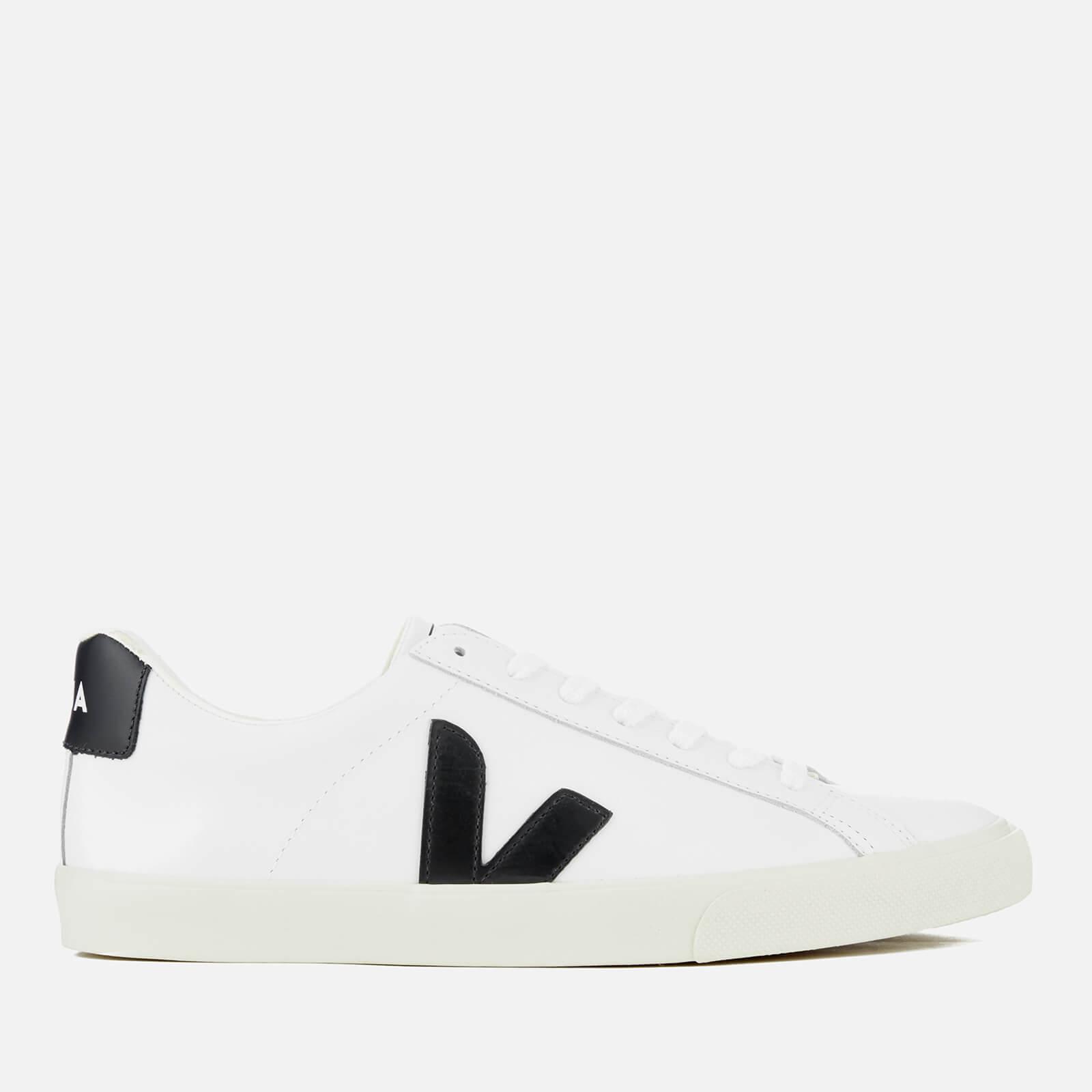 7e9724dabe5f6 Veja Men s Esplar Leather Low Trainers - Extra White Black - Free UK ...