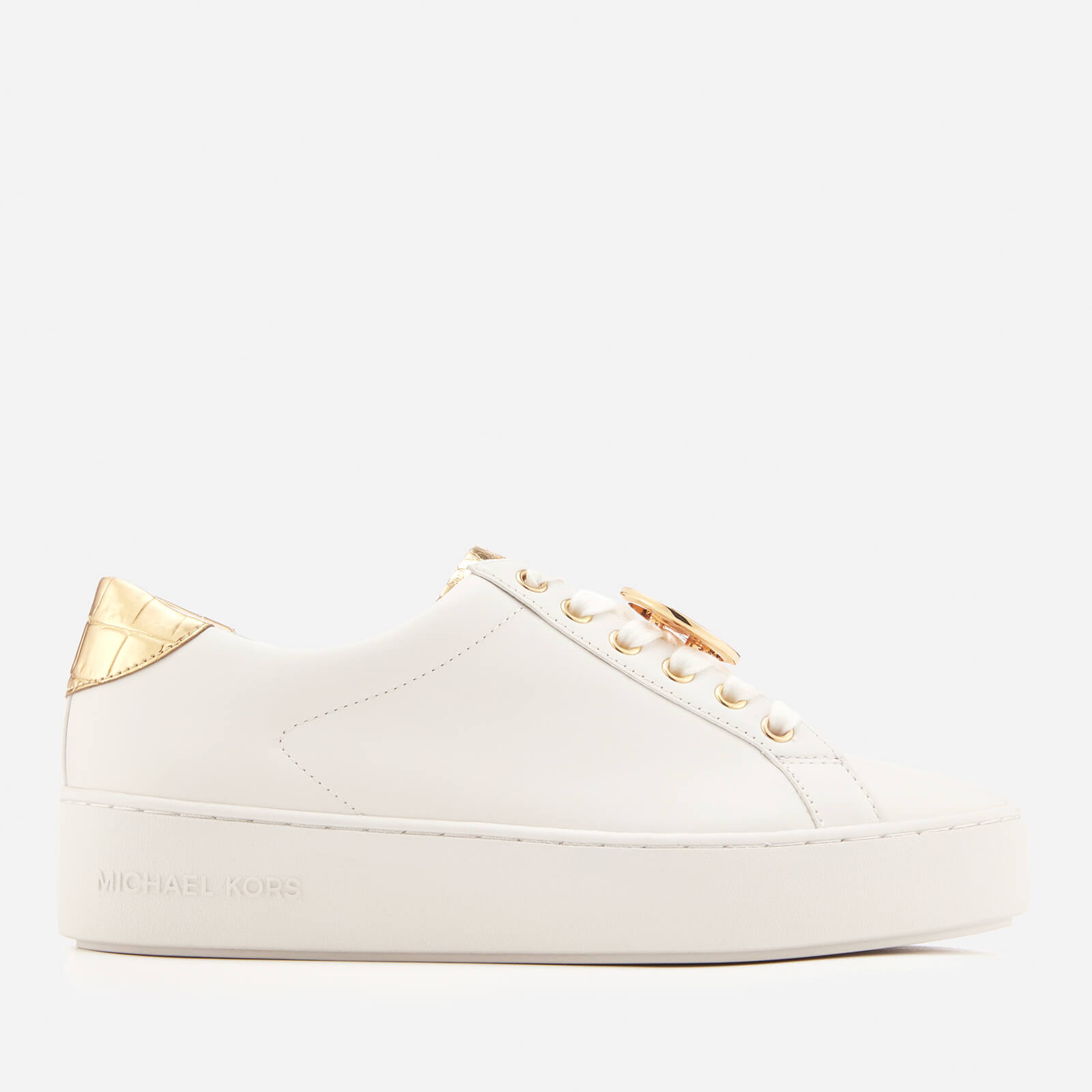 8b4009ae3a0 MICHAEL MICHAEL KORS Women s Poppy Lace Up Trainers - Optic White Womens  Footwear