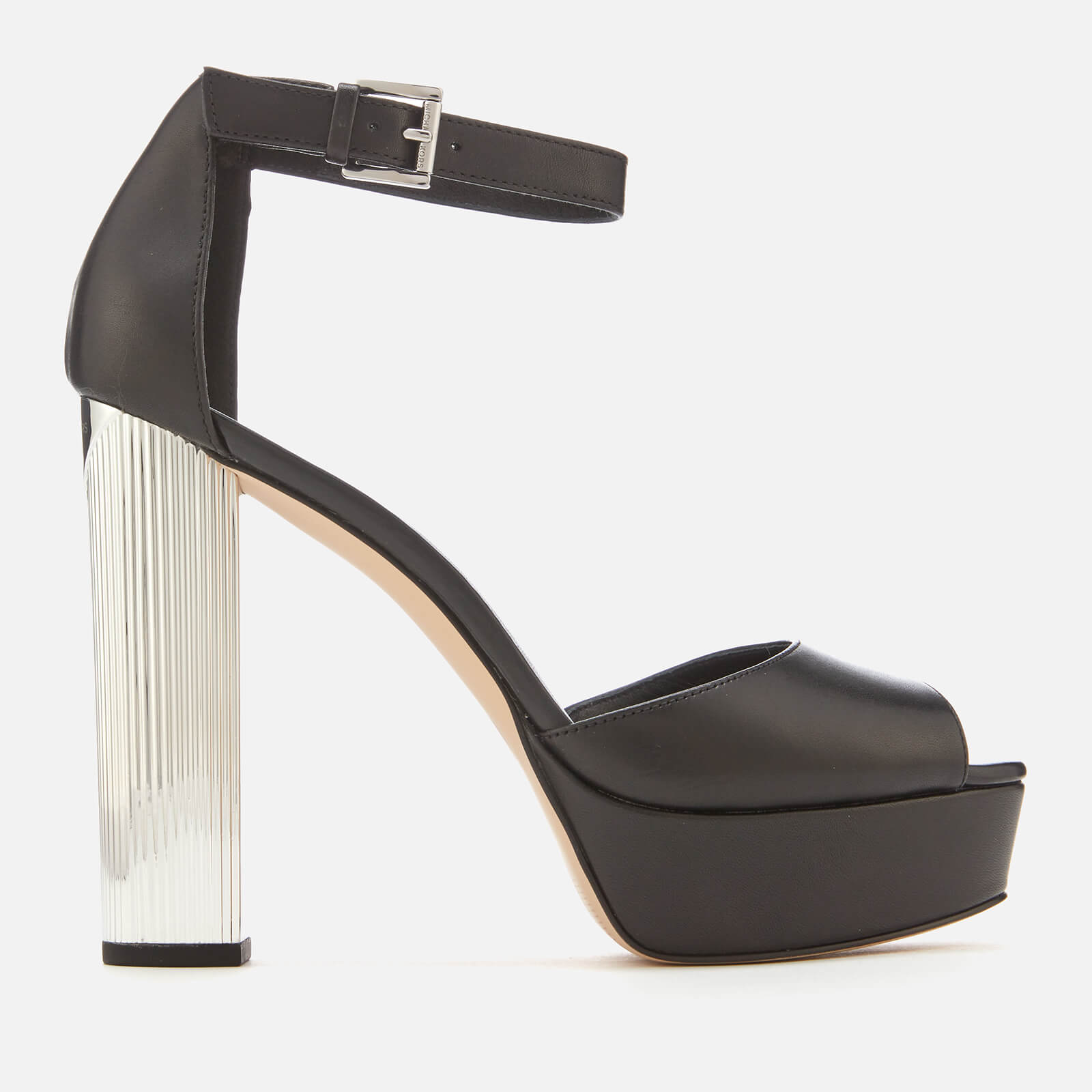 0de43ff4020a MICHAEL MICHAEL KORS Women s Paloma Leather Platform Heeled Sandals - Black  Womens Footwear