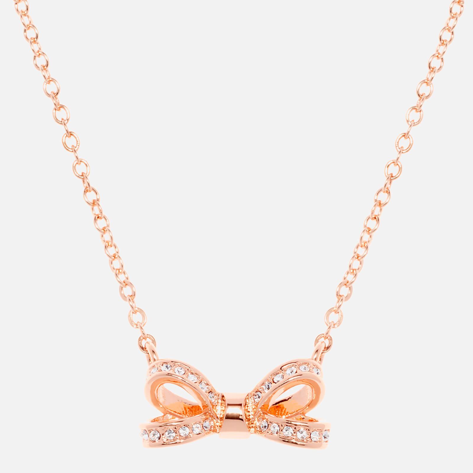 cf68839fc6013 Ted Baker Women's Olessi Mini Opulent Pavé Bow Pendant - Rose Gold/Crystal