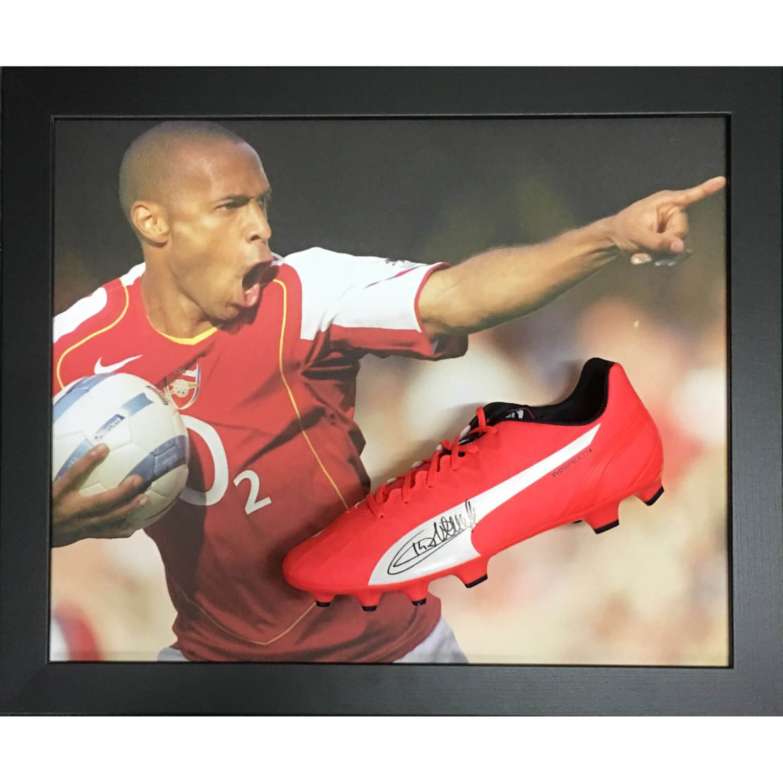 Thierry Henry Signed Boot in Domed Frame