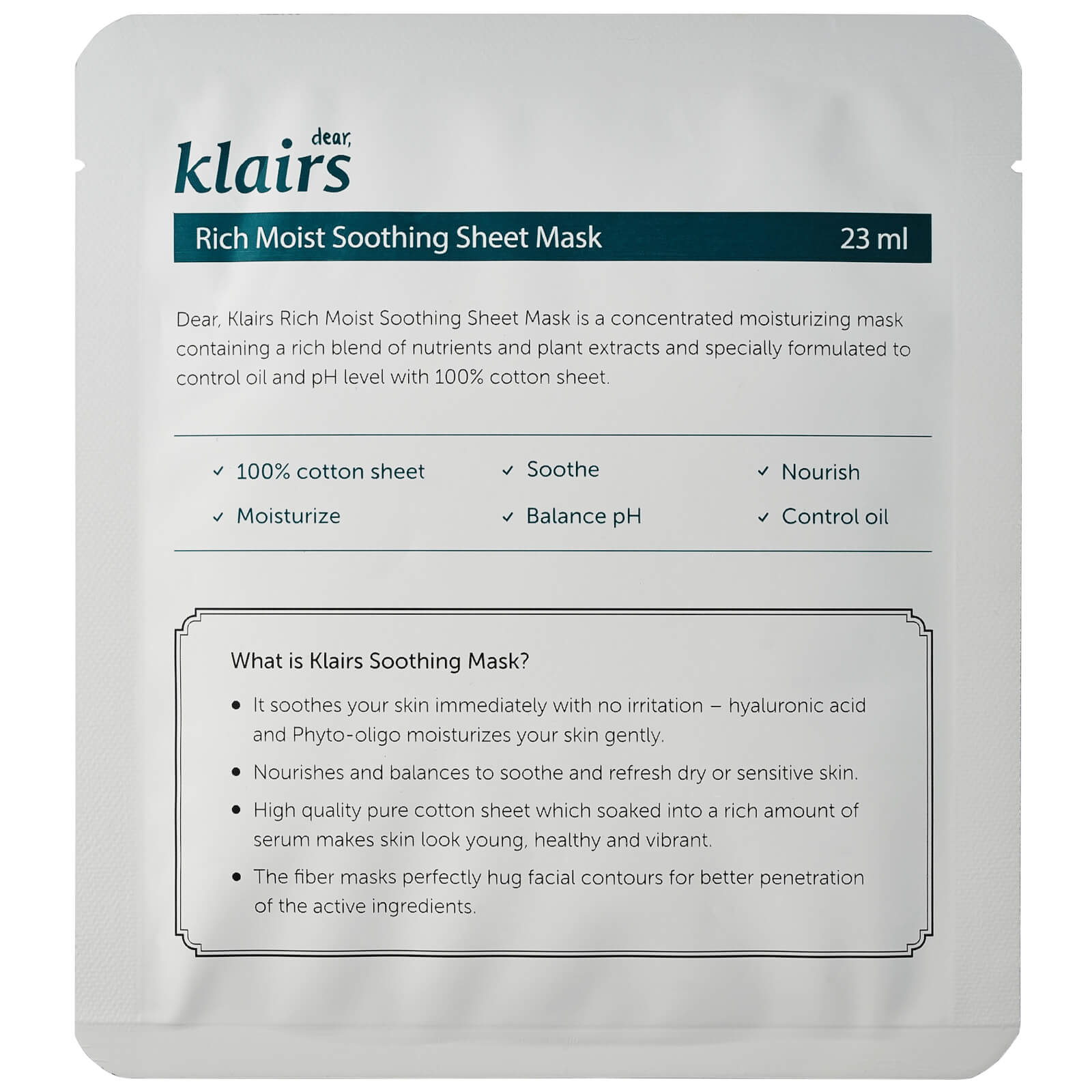 Klairs Sheet Masks