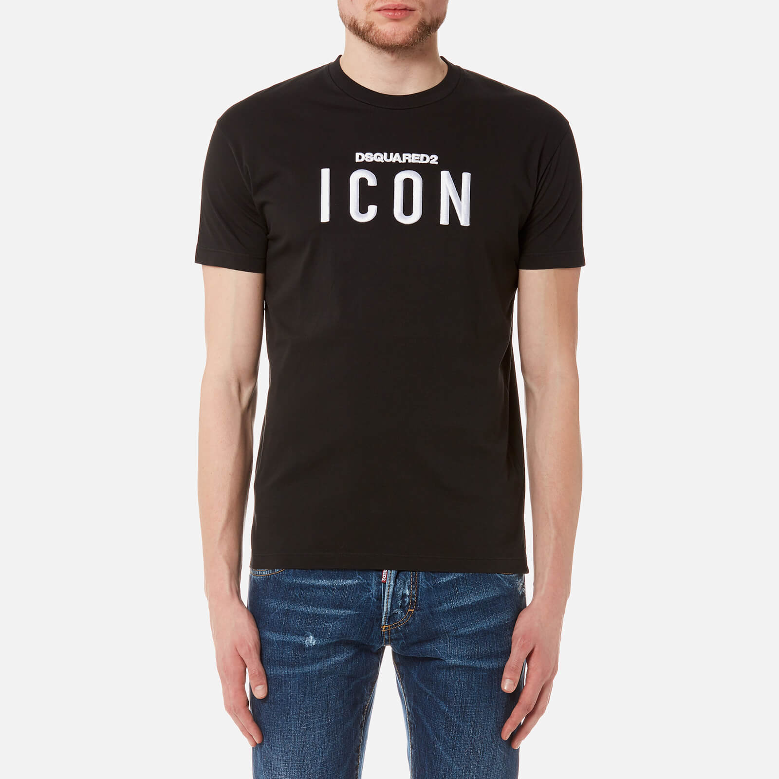 74e8da2036a9f1 Dsquared2 Men's Icon Logo Long Cool Fit T-Shirt - Black - Free UK Delivery  over £50