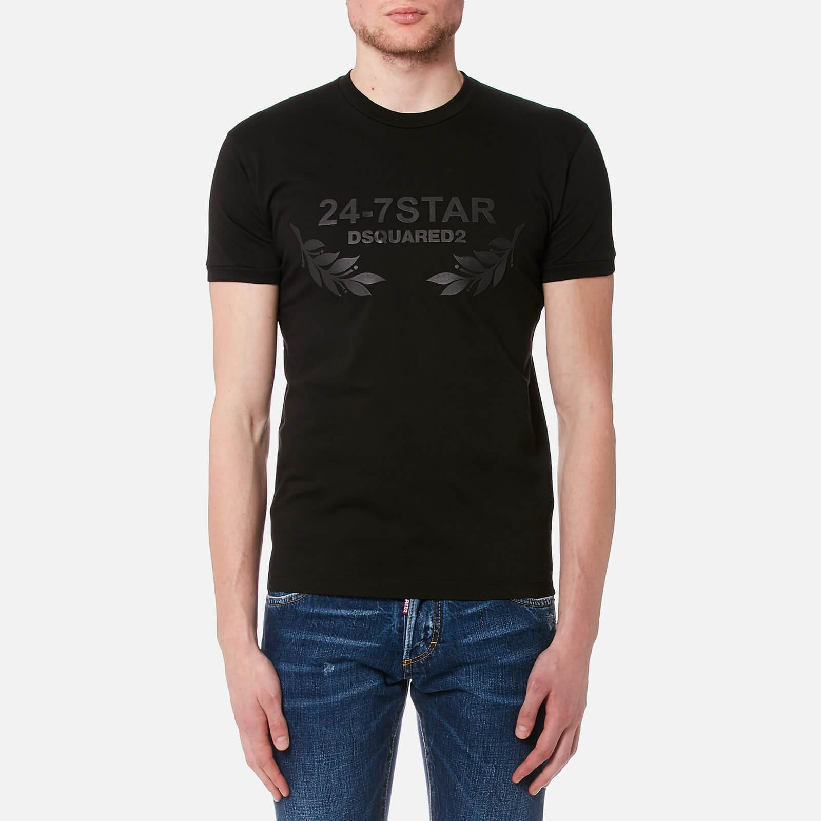 c7cf4f7636bcb0 Dsquared2 Men's 24-7 T-Shirt - Black - Free UK Delivery over £50