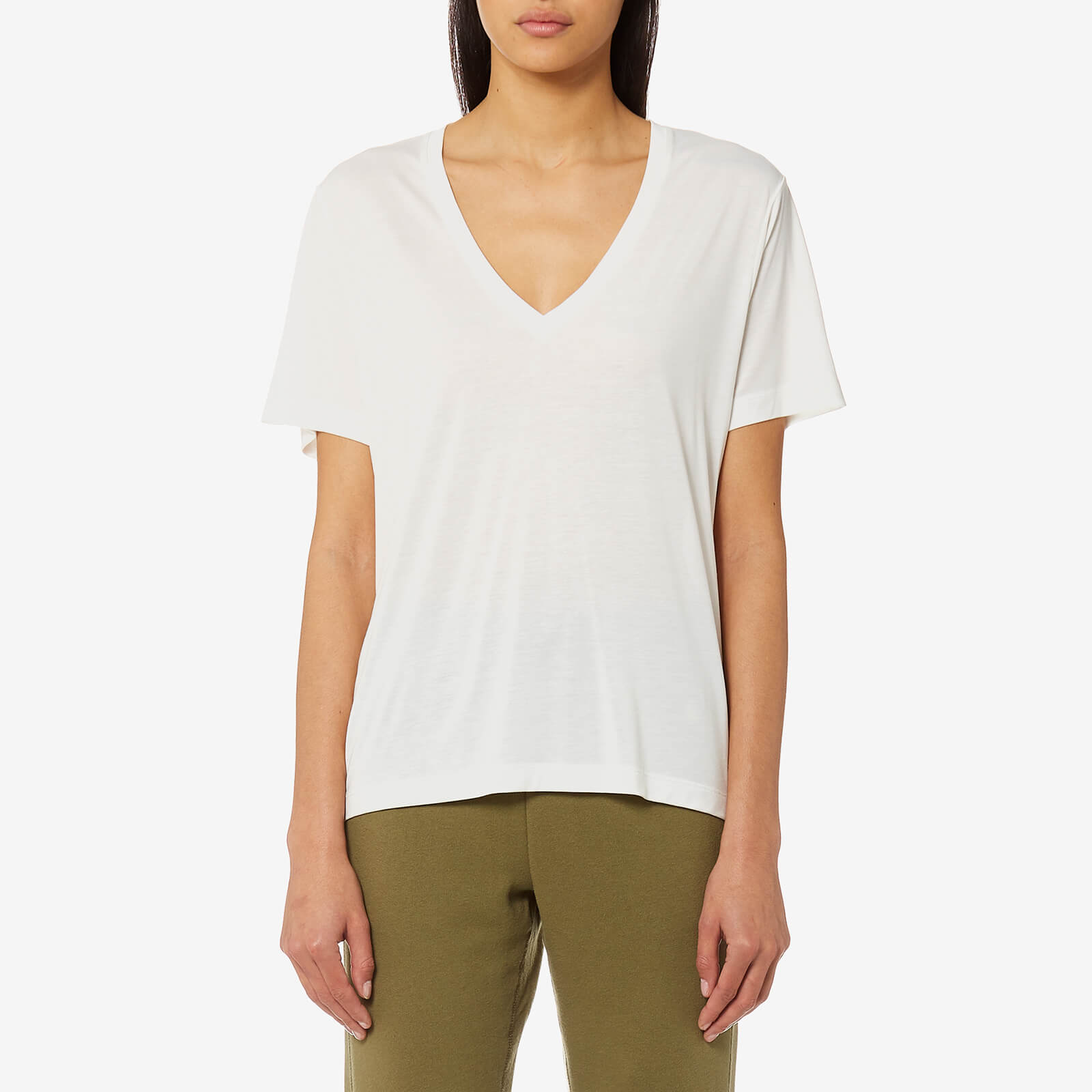 a64fb77644fca Polo Ralph Lauren Women s V Neck T-Shirt - White - Free UK Delivery over £50