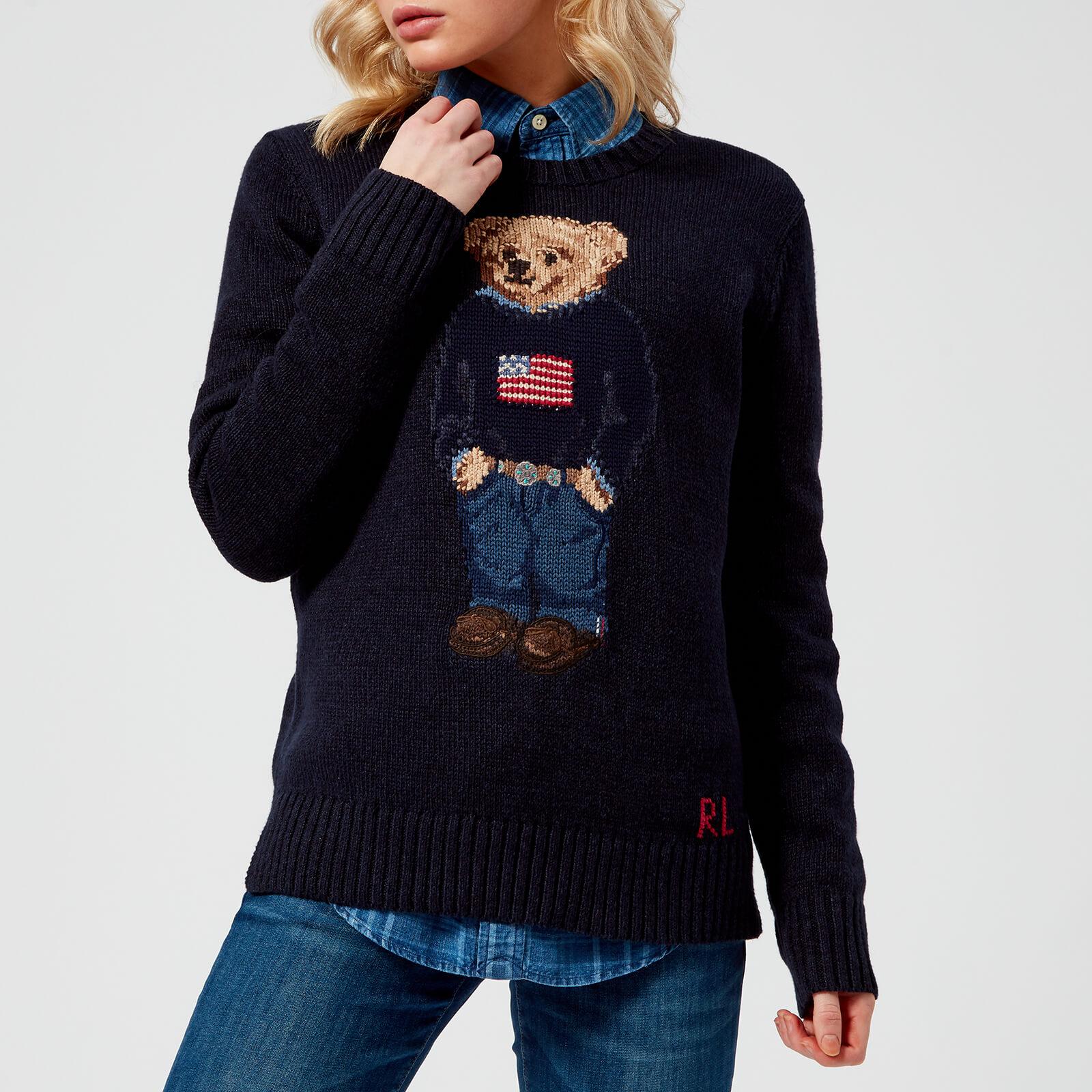 be887b9863d4 Polo Ralph Lauren Women's Bear Jumper - Navy - Free UK Delivery over £50