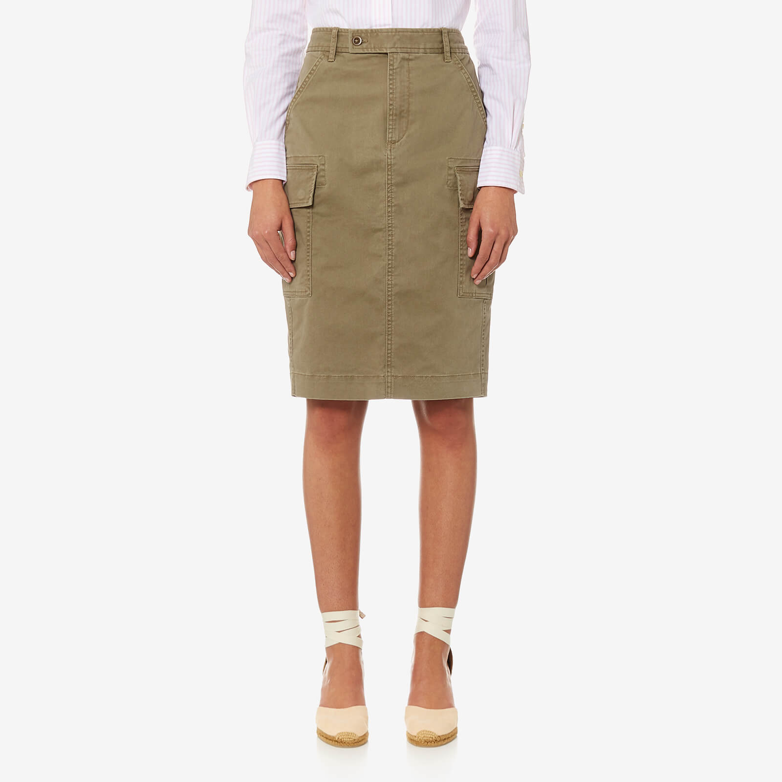 9b1c4c2f2 Polo Ralph Lauren Women's Cargo Pencil Skirt - Khaki - Free UK Delivery  over £50