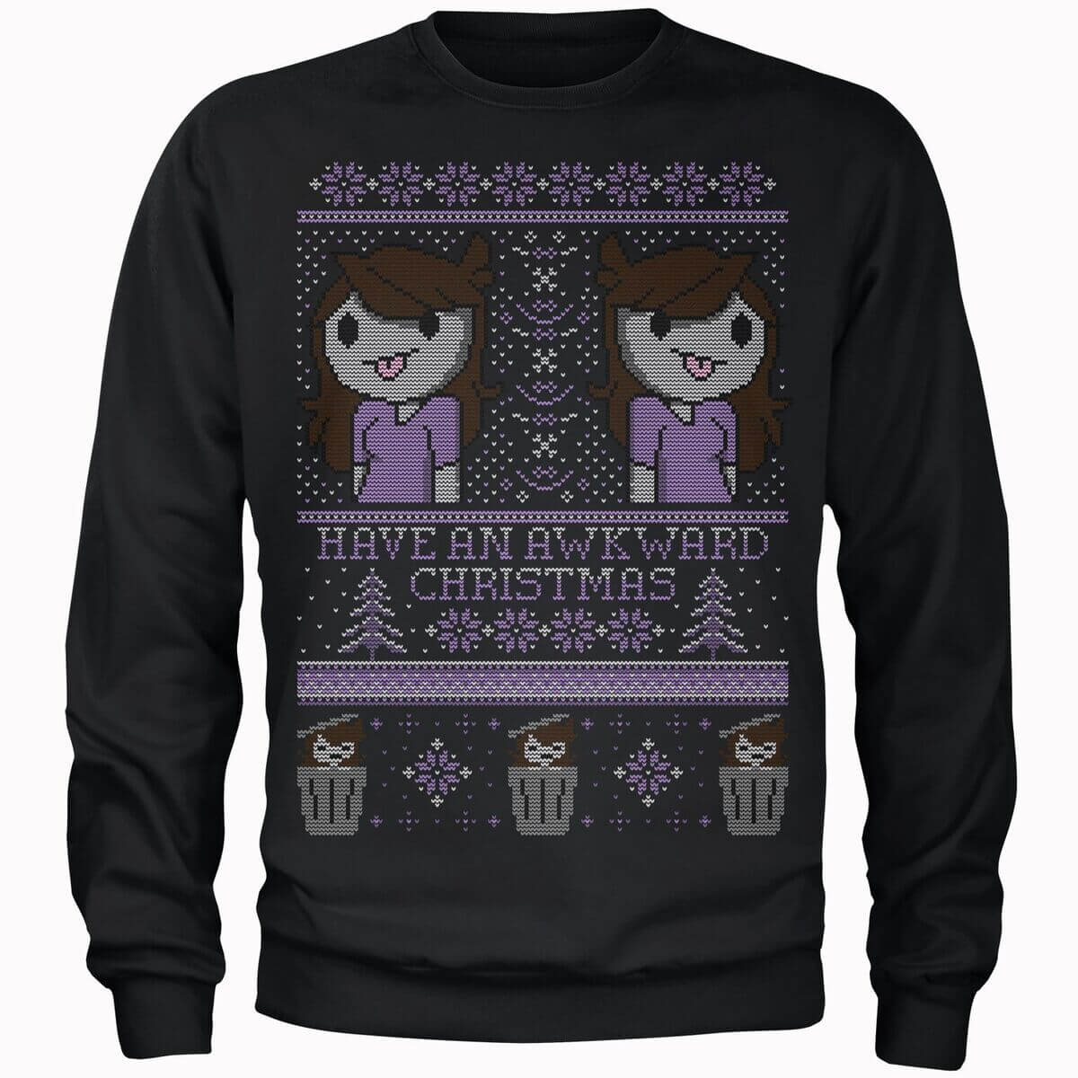 Jaiden Have An Awkward Christmas Black Sweater