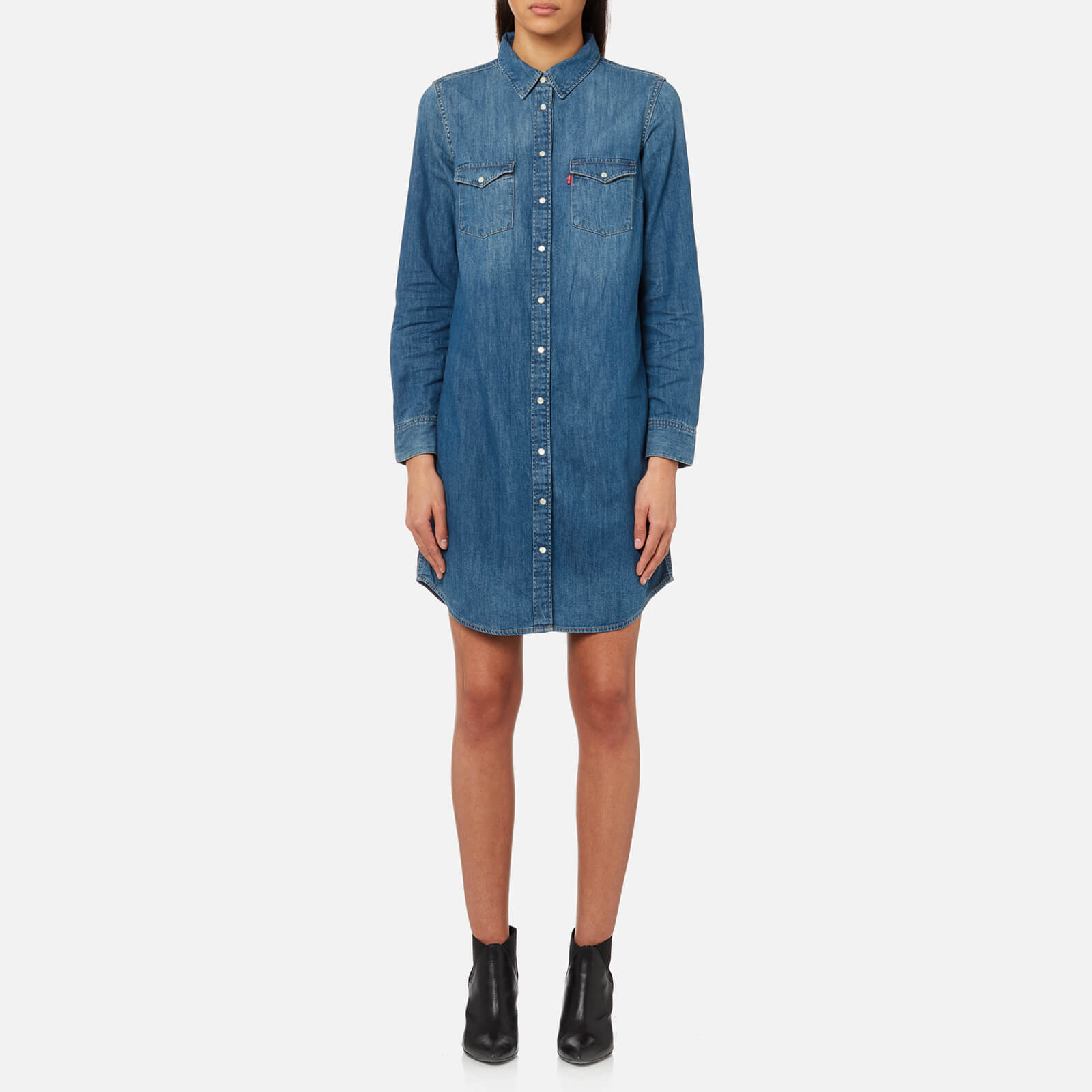 4736425f689 Levi s Women s Iconic Western Shirt Dress - San Fran Medium - Free ...
