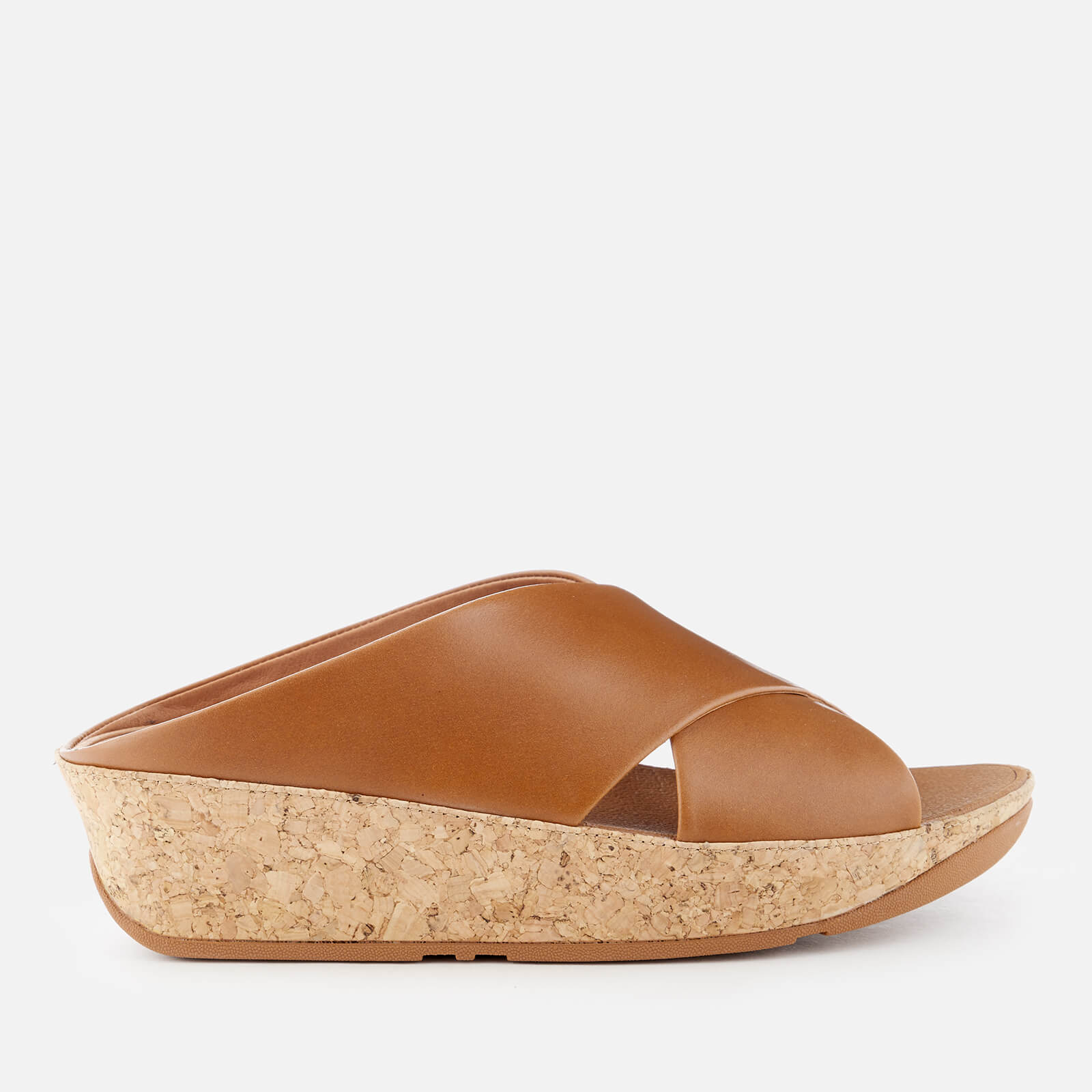 03799f5e6234 FitFlop Women s Kys Slide Leather Sandals - Caramel Womens Accessories