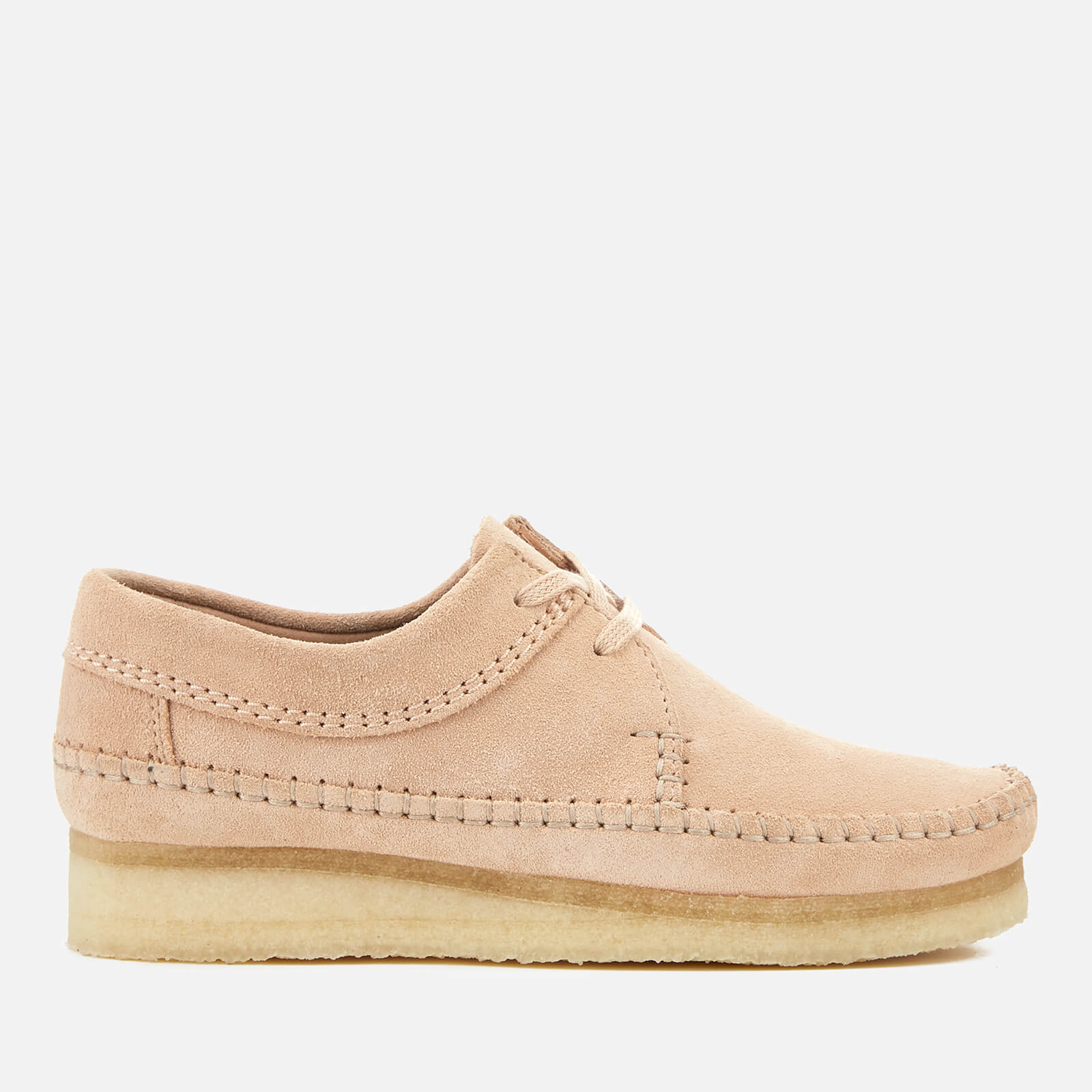 Weaver Suede Shoes - Light Pink