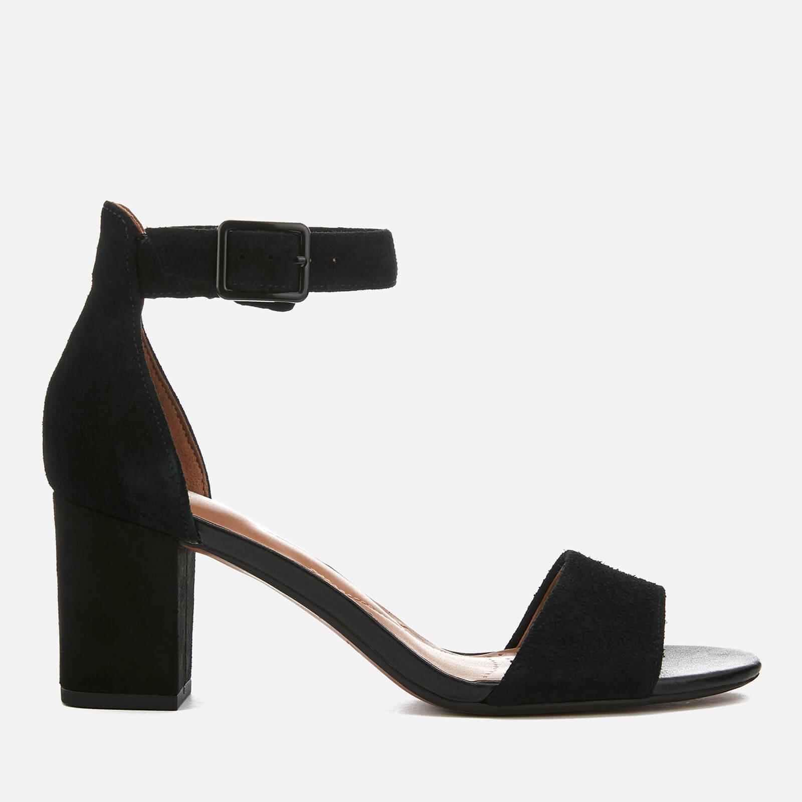 3454380c5 Clarks Women's Deva Mae Suede Blocked Heeled Sandals - Black | FREE UK  Delivery | Allsole