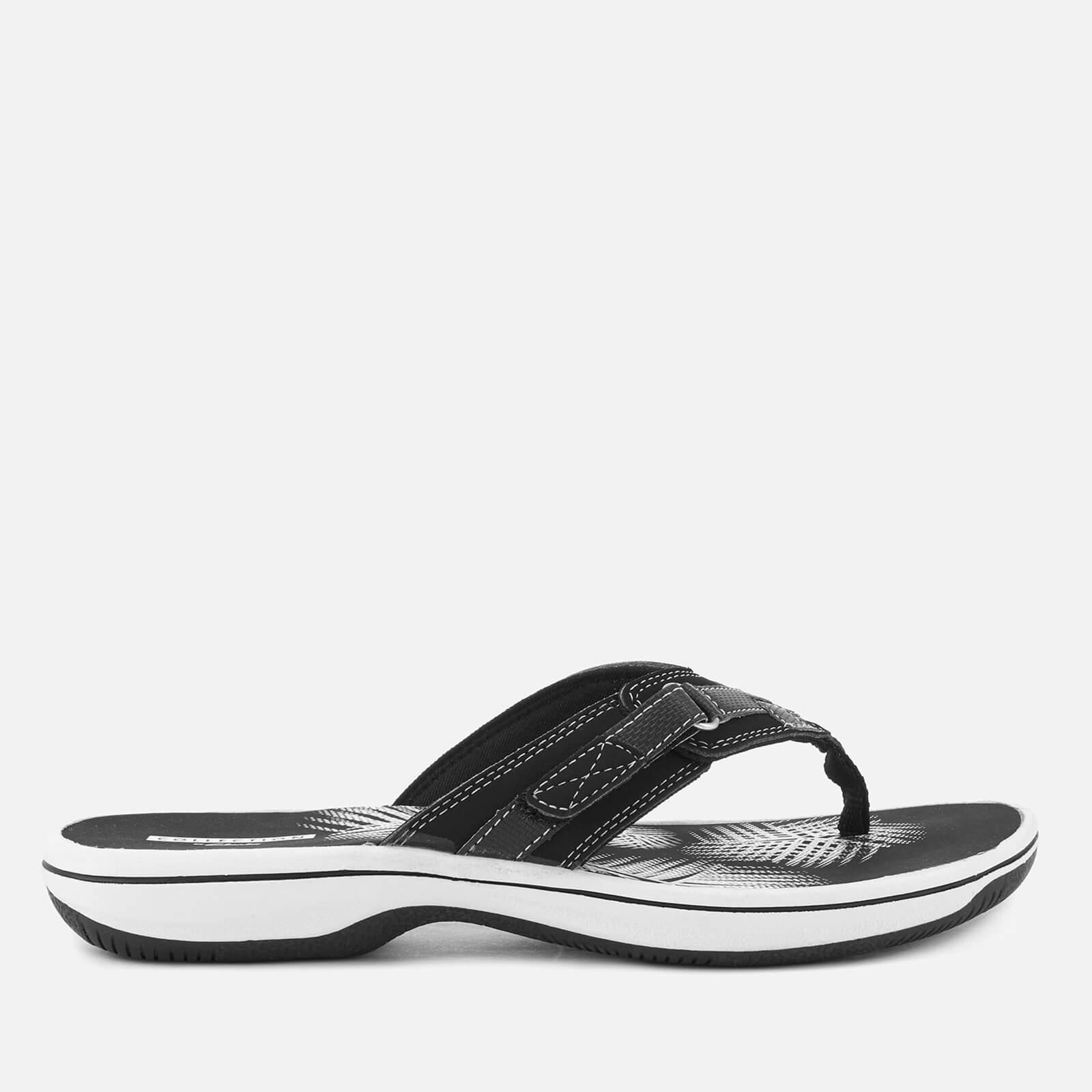 outlet boutique catch official images Clarks Women's Brinkley Sea Toe Post Sandals - Black