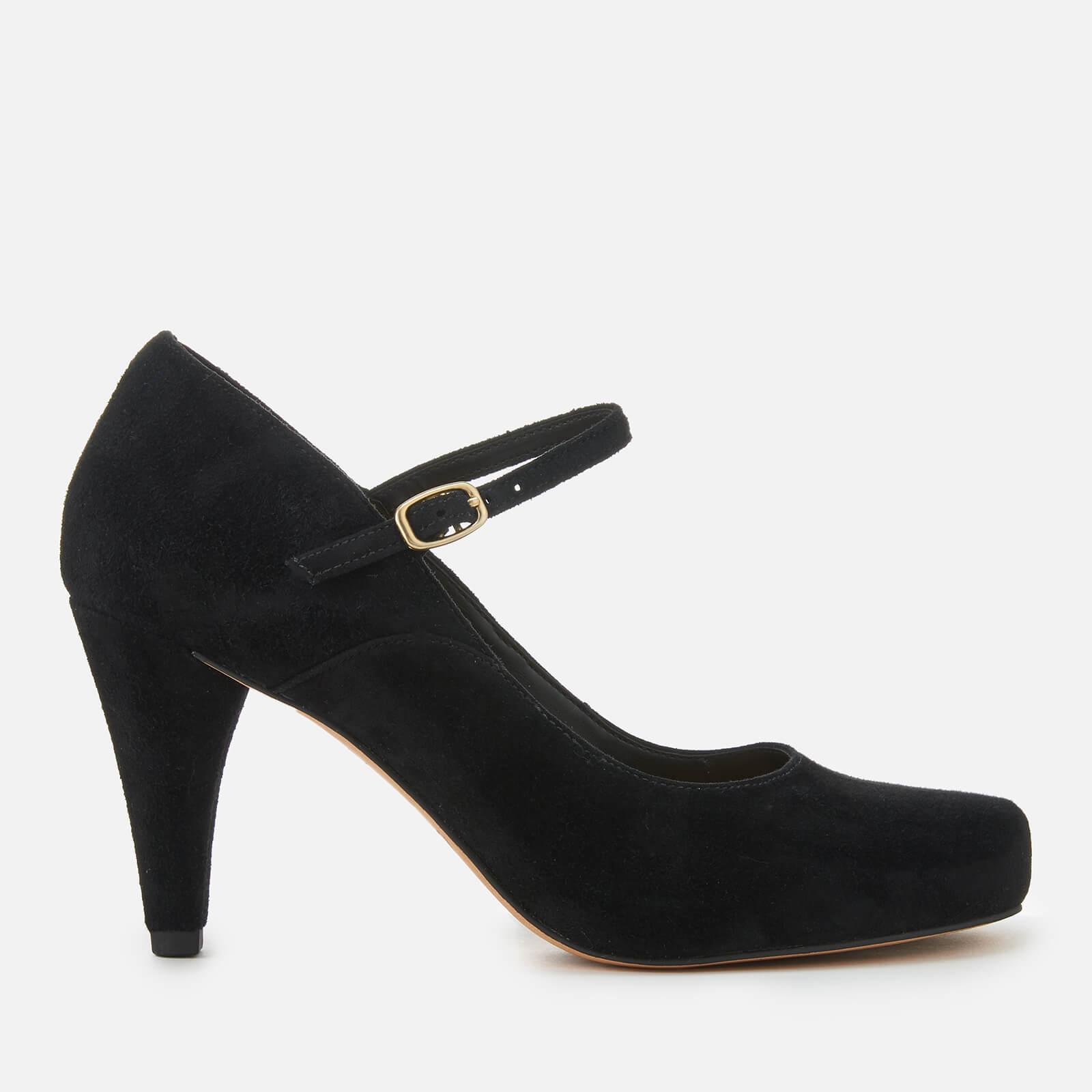 Clarks Women's Dalia Lily Suede Mary Jane Heels Black