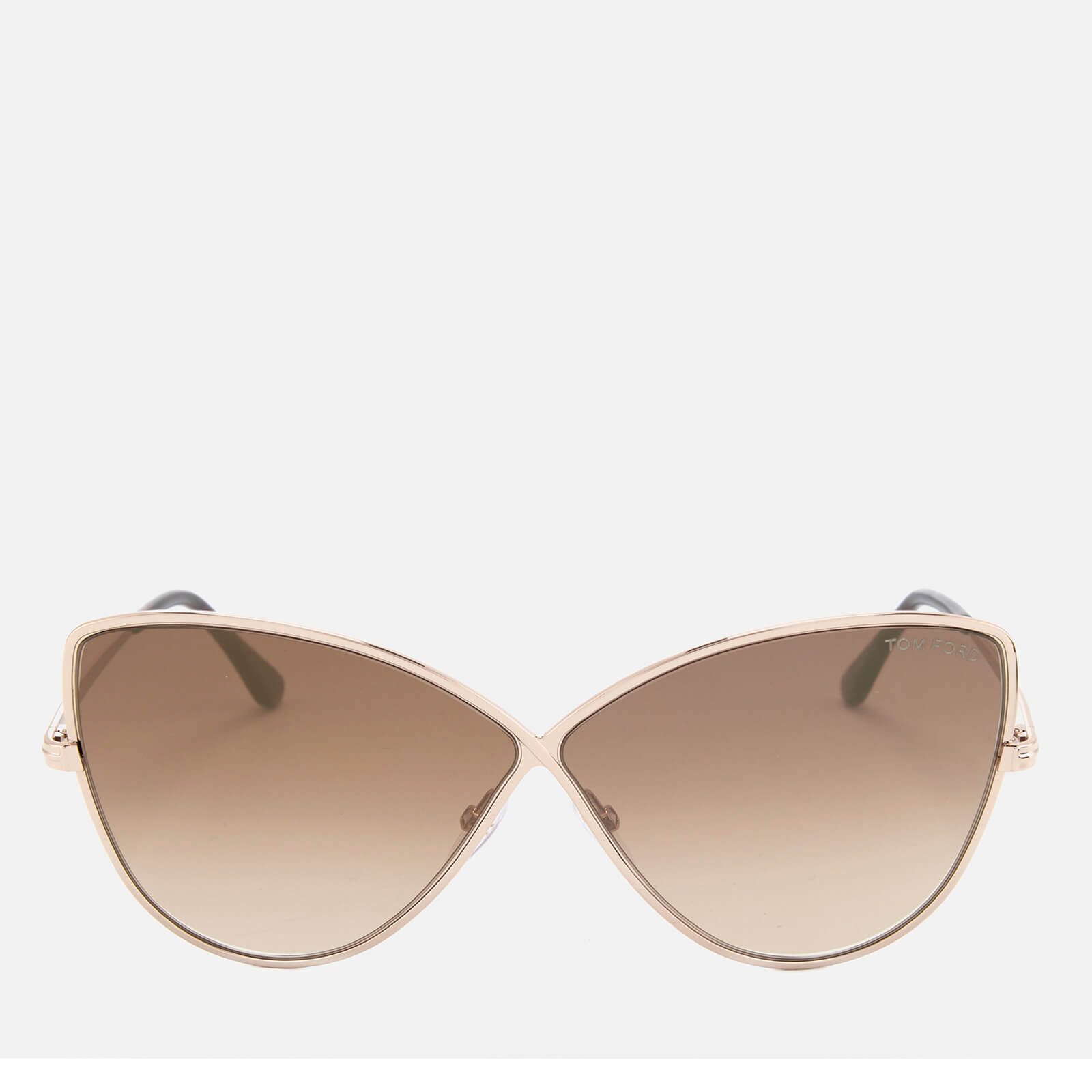 9cca26635369 Tom Ford Women's Elise Butterfly Shape Sunglasses - Rose Gold/Brown Mirror  - Free UK Delivery over £50
