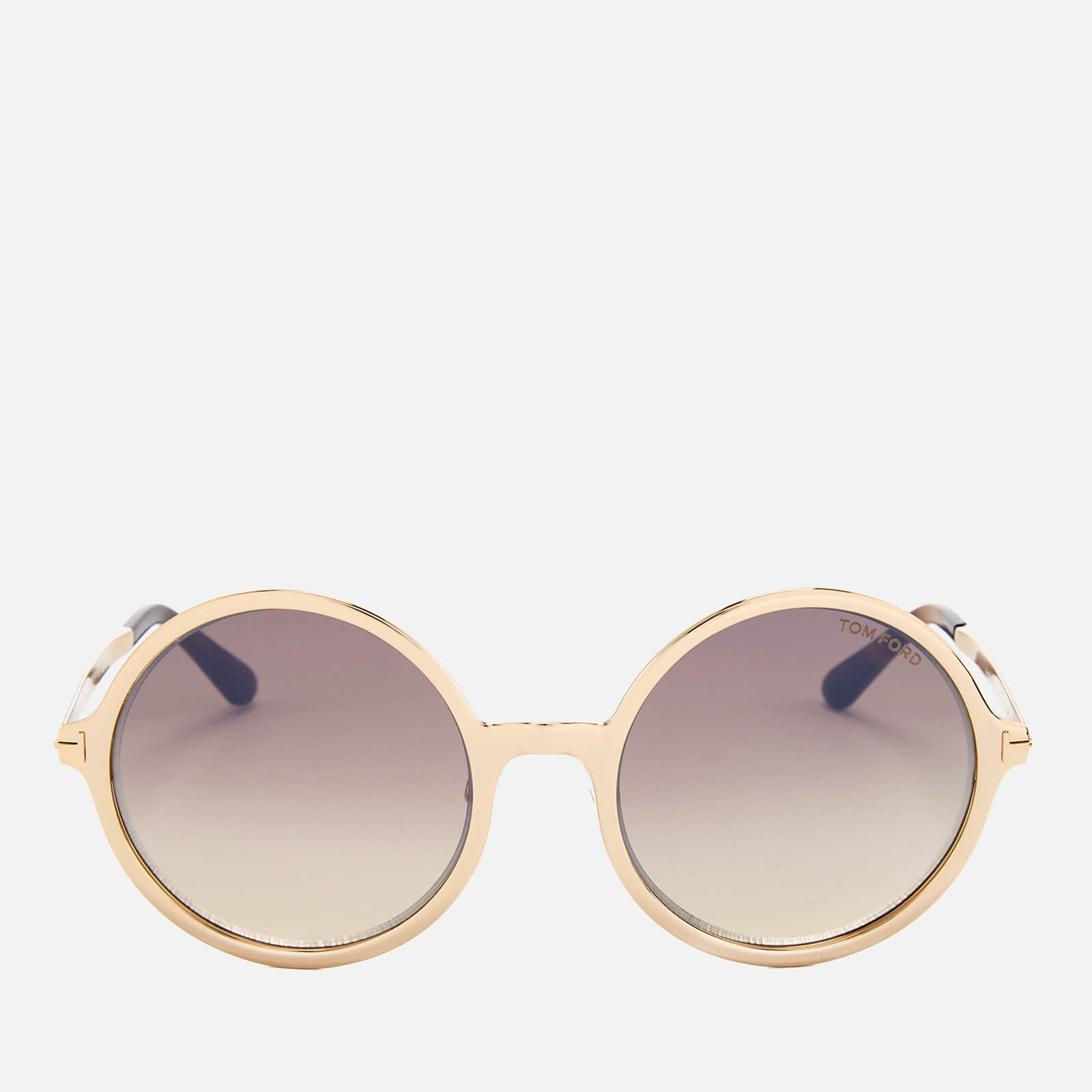 114a61e72ae5b Tom Ford Women s Ava Round Frame Sunglasses - Rose Gold Brown Mirror Womens  Accessories