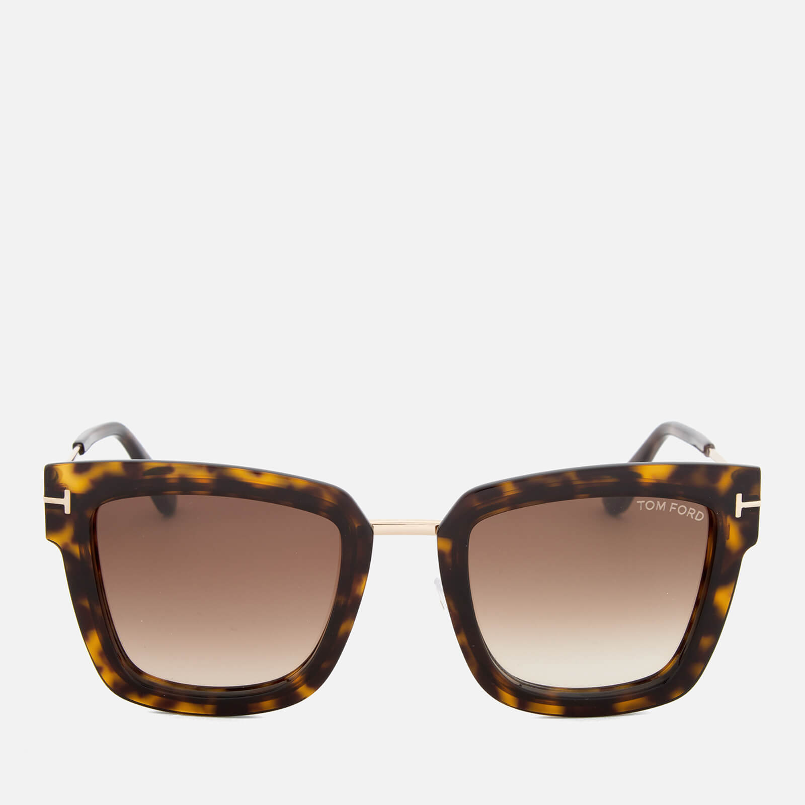112461ea76b Tom Ford Women s Lara Square Frame Sunglasses - Dark Havana - Free UK  Delivery over £50