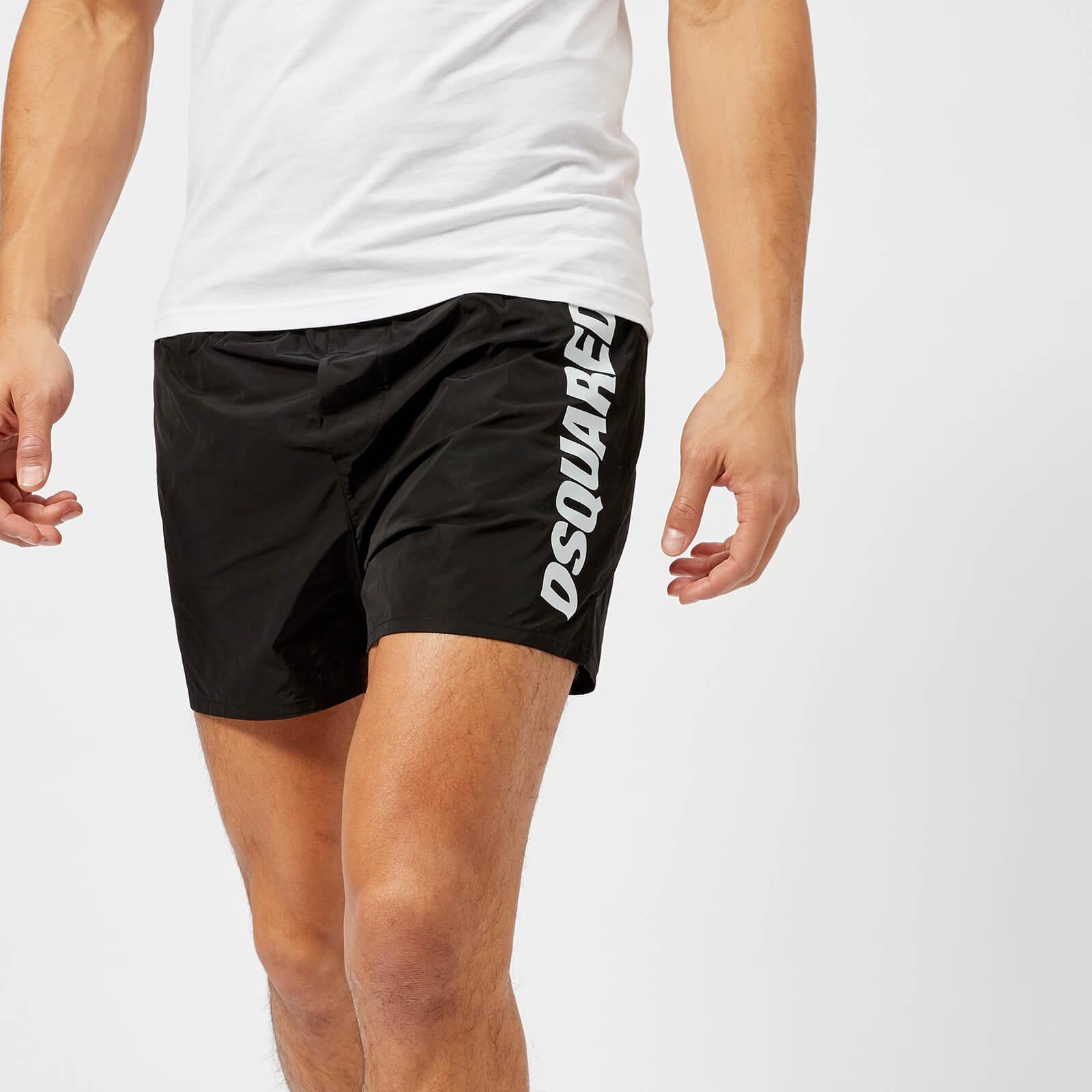e06911a72a Dsquared2 Men's Logo Swim Shorts - Black - Free UK Delivery over £50