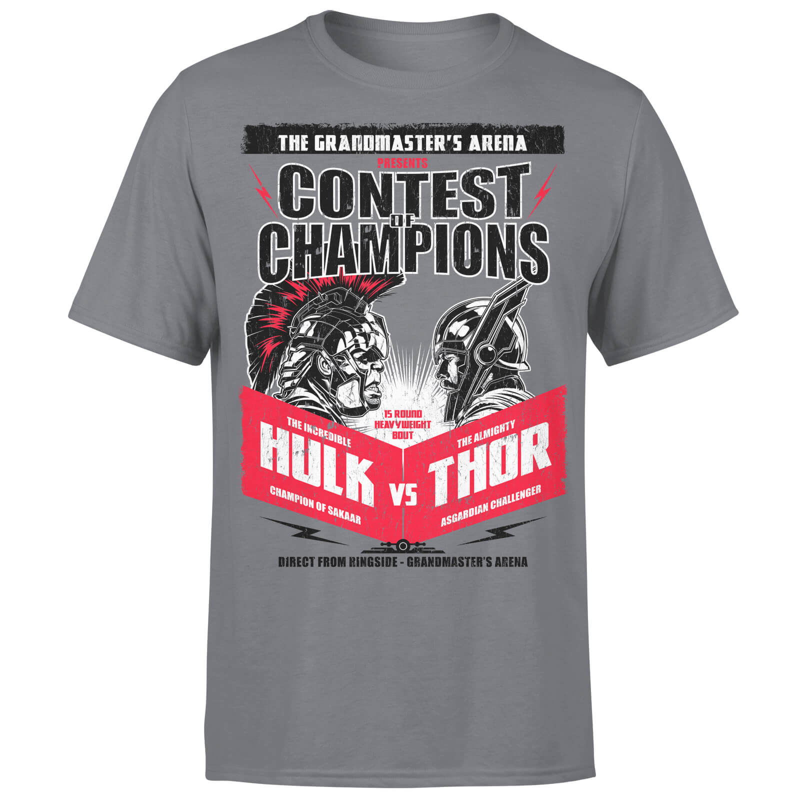 Marvel Contest Of Champions Hulk Vs Thor Charcoal T-Shirt