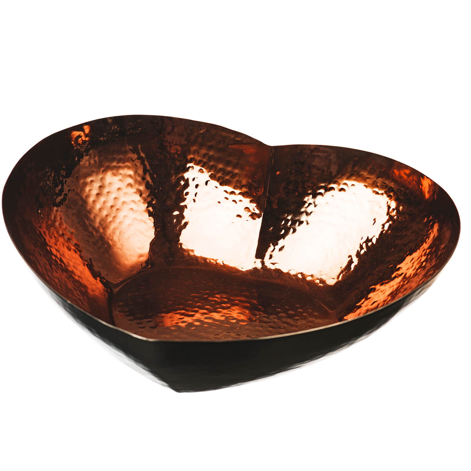 Just Slate Large Heart Copper Bowl