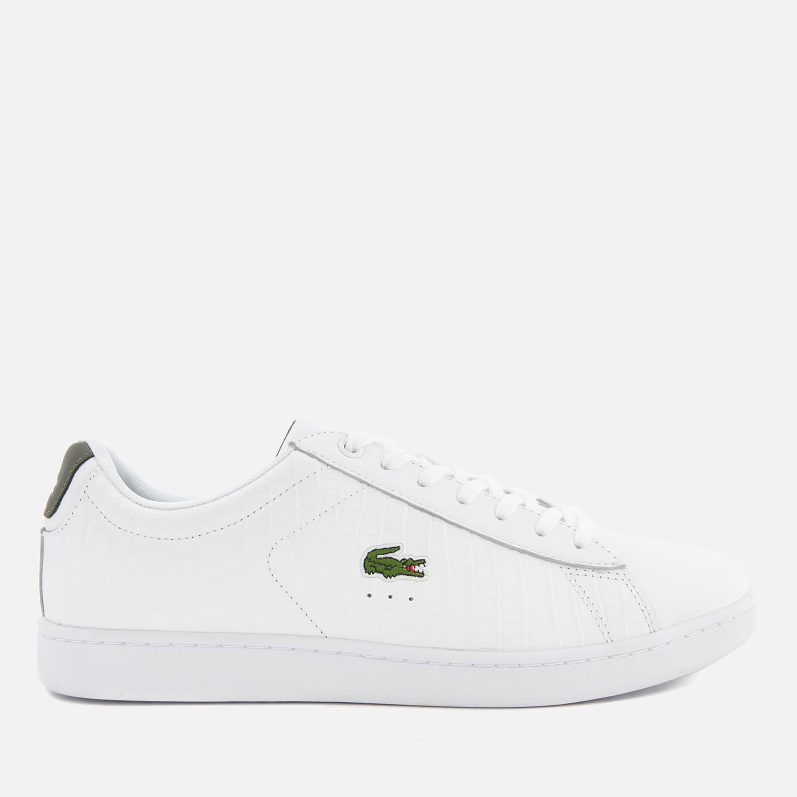 091cde2e16cc2 Lacoste Men s Carnaby Evo G117 Trainers - White Khaki - Free UK Delivery  over £50