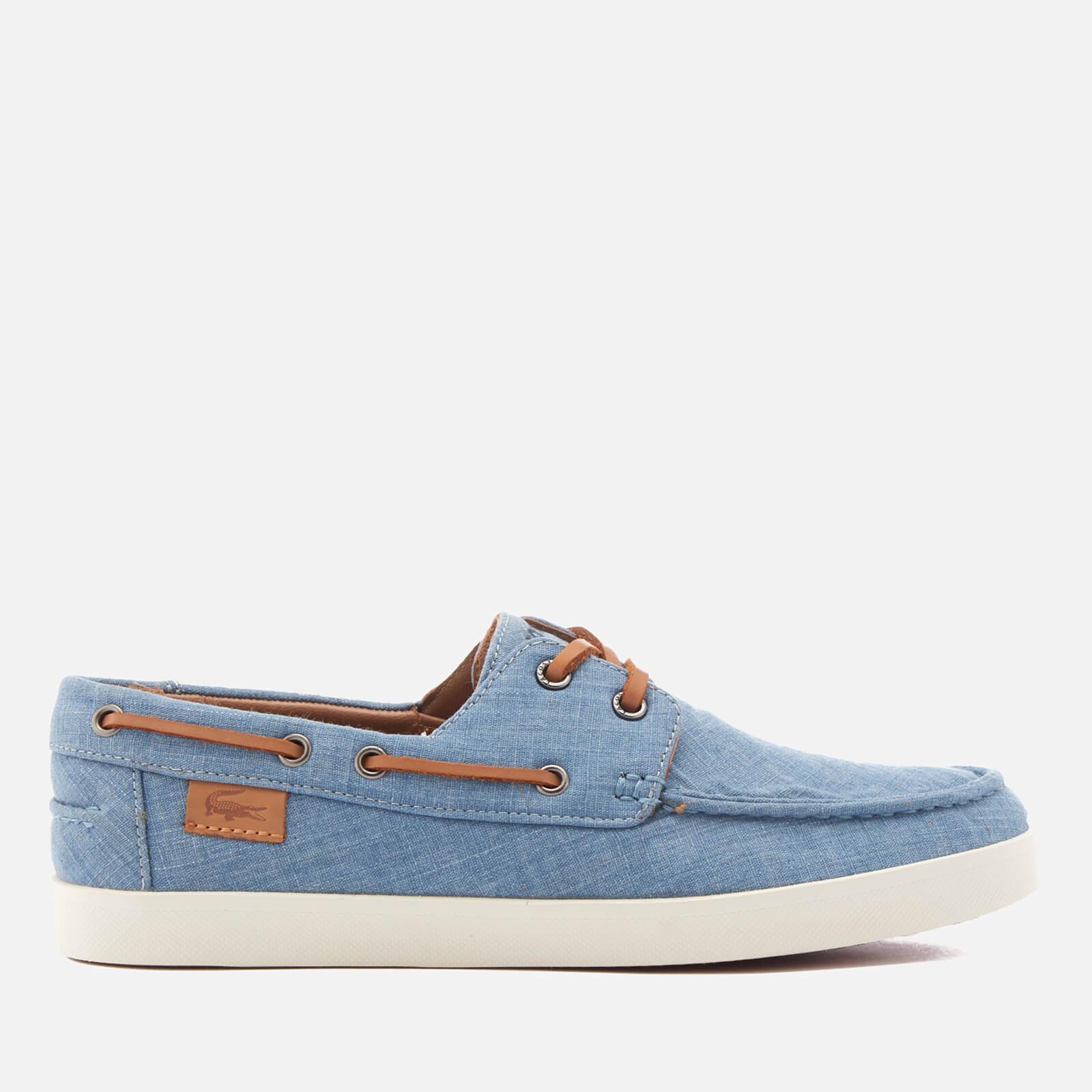 333d7092a81f Lacoste Men s Keellson Boat Shoes - Blue Clothing