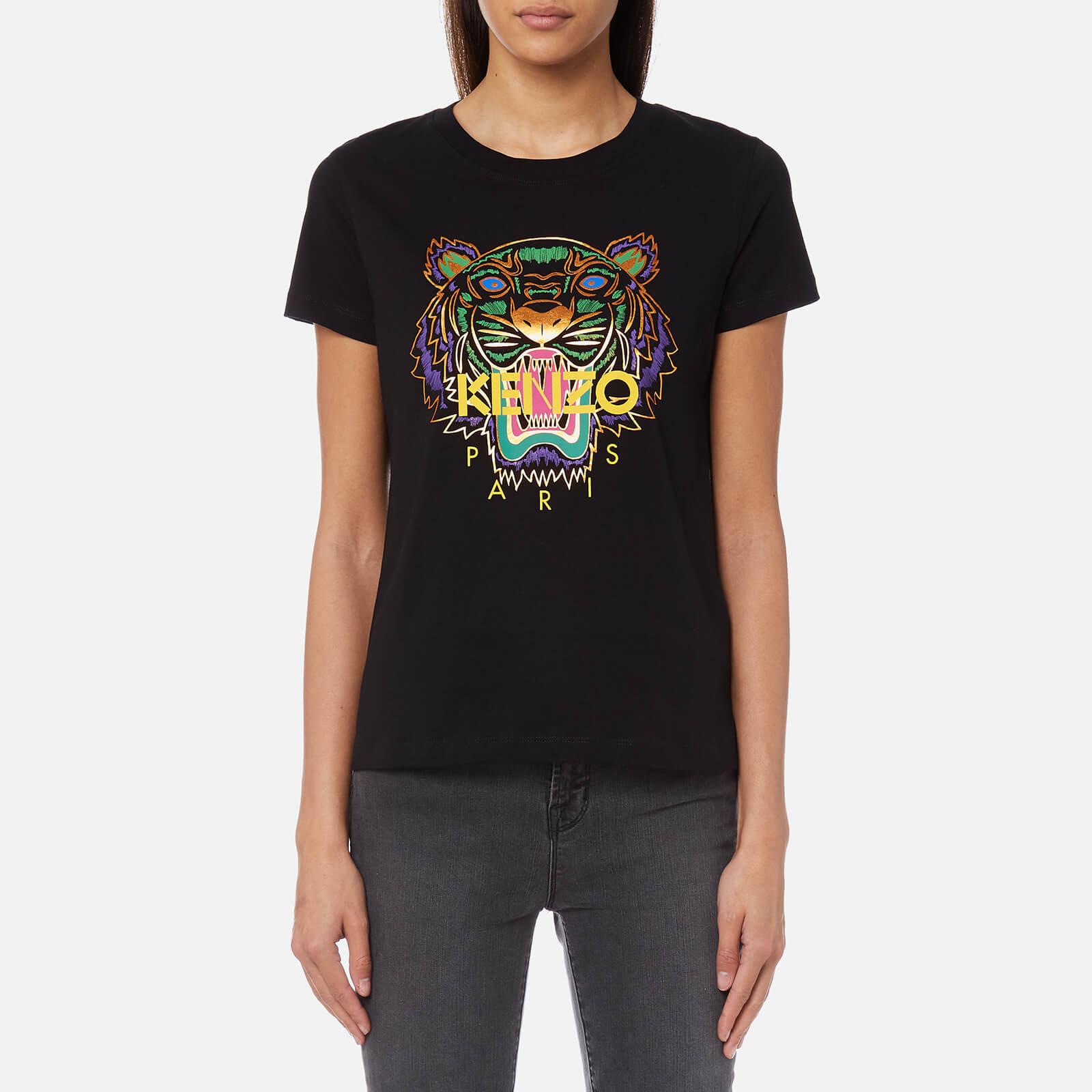 9cff8eaf8f9b KENZO Women's Tiger T-Shirt - Black - Free UK Delivery over £50