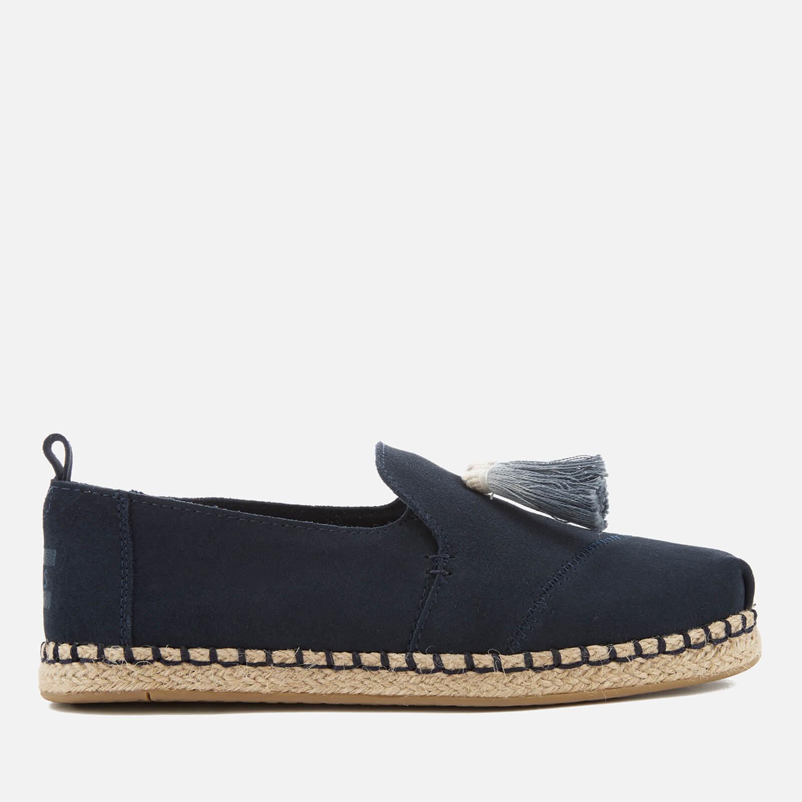9f34810be43 TOMS Women s Deconstructed Alpargata Suede Espadrilles - Navy Womens  Footwear