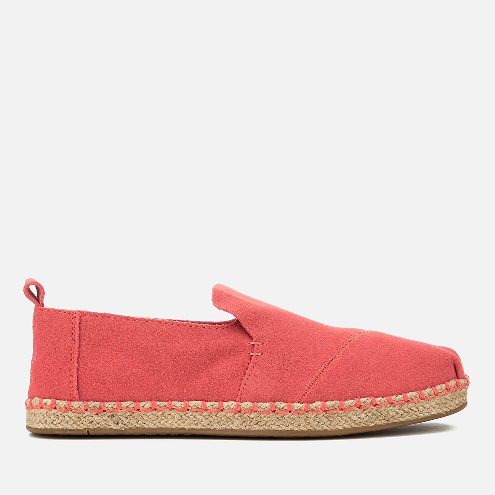 7640a3dab30 TOMS Women s Deconstructed Suede Alpargata Espadrilles - Hibiscous Womens  Footwear