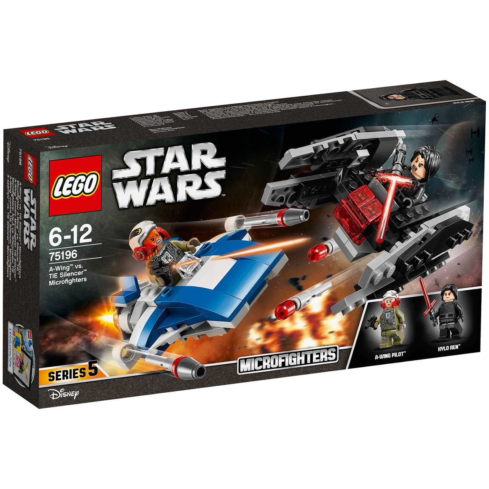LEGO Star Wars: A-Wing vs. TIE Silencer Microfighters (75196)