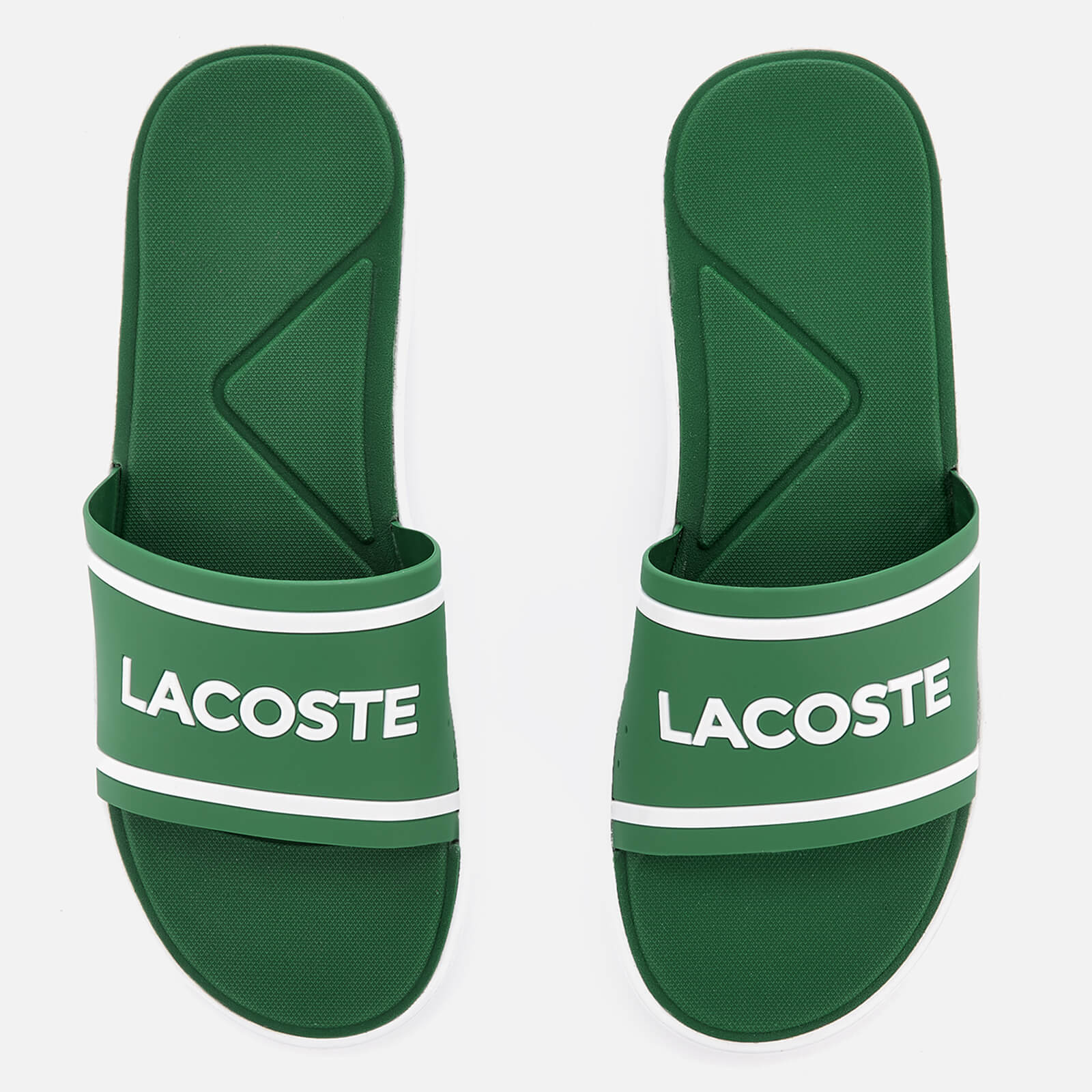 7f57750ddea3b Lacoste Men s L.30 118 2 Slide Sandals - Green White - Free UK Delivery  over £50