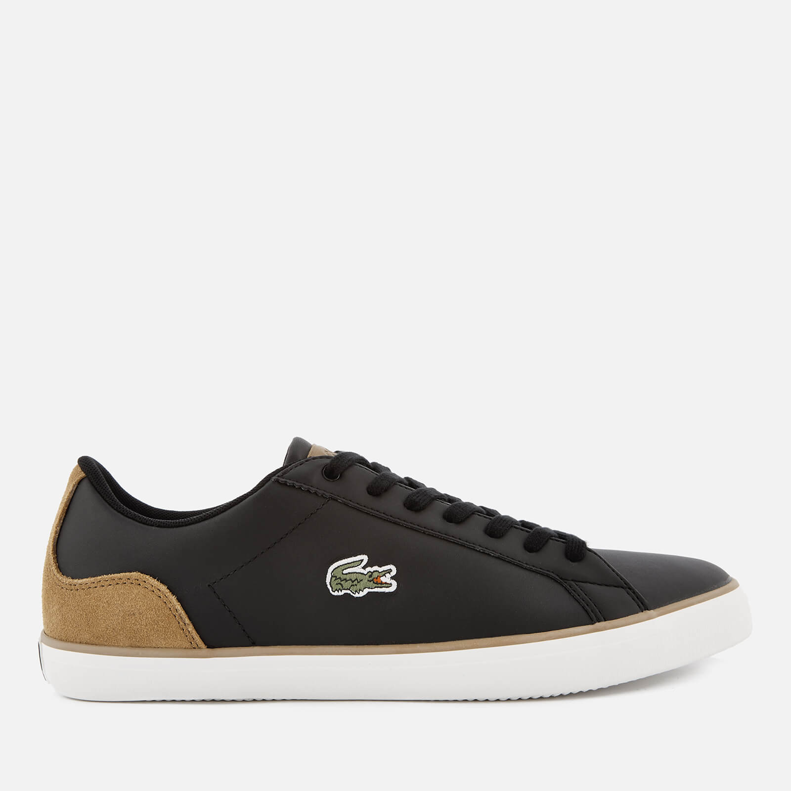 a74002aff Lacoste Men s Lerond 118 1 Leather Trainers - Black Light Brown - Free UK  Delivery over £50