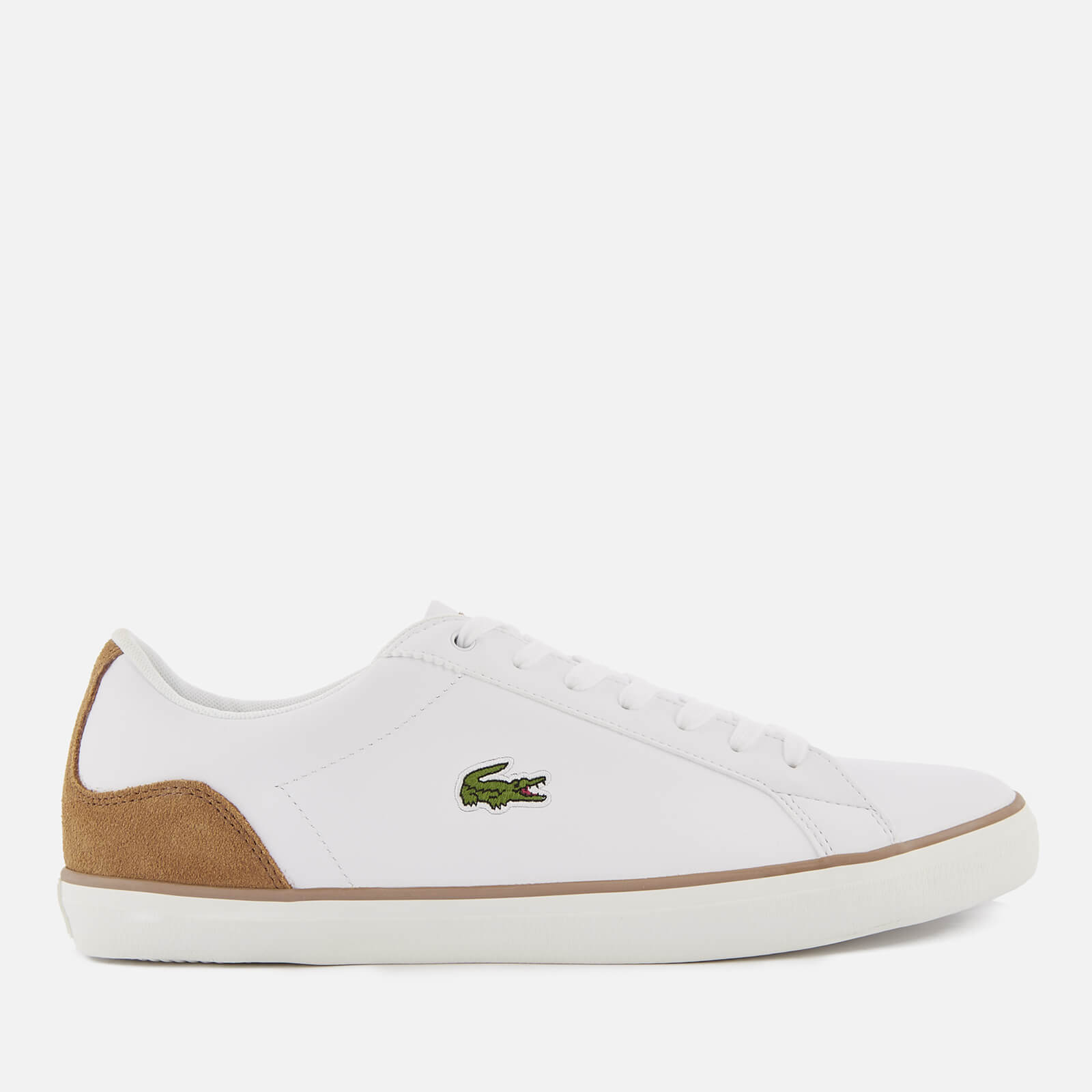 f540b87ec Lacoste Men s Lerond 118 1 Leather Trainers - White Light Brown Mens  Footwear