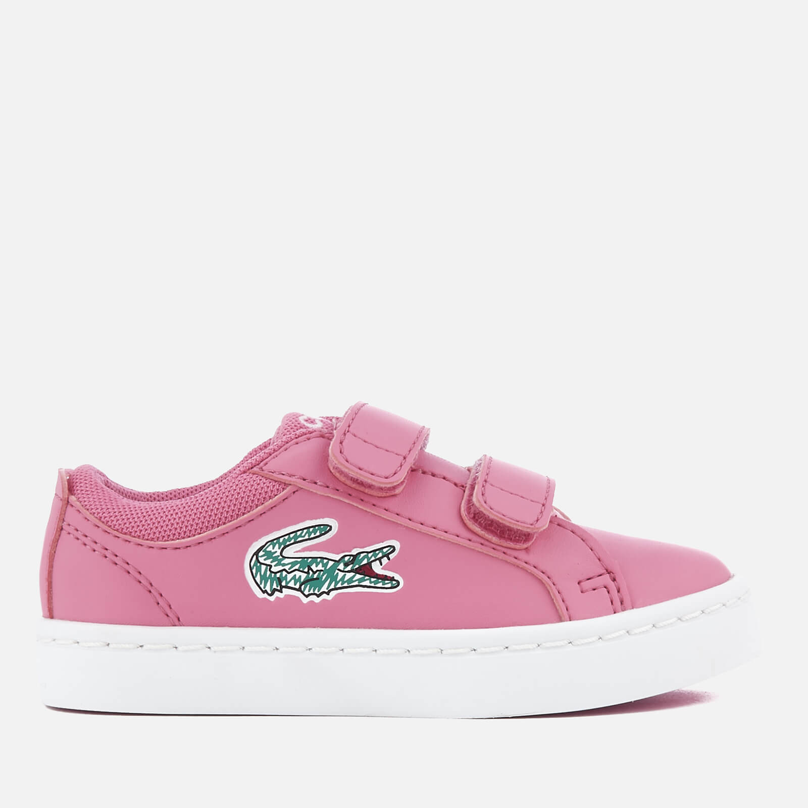 689fc0554 Lacoste Toddlers  Straightset Lace 118 1 Trainers - Pink White Junior  Clothing