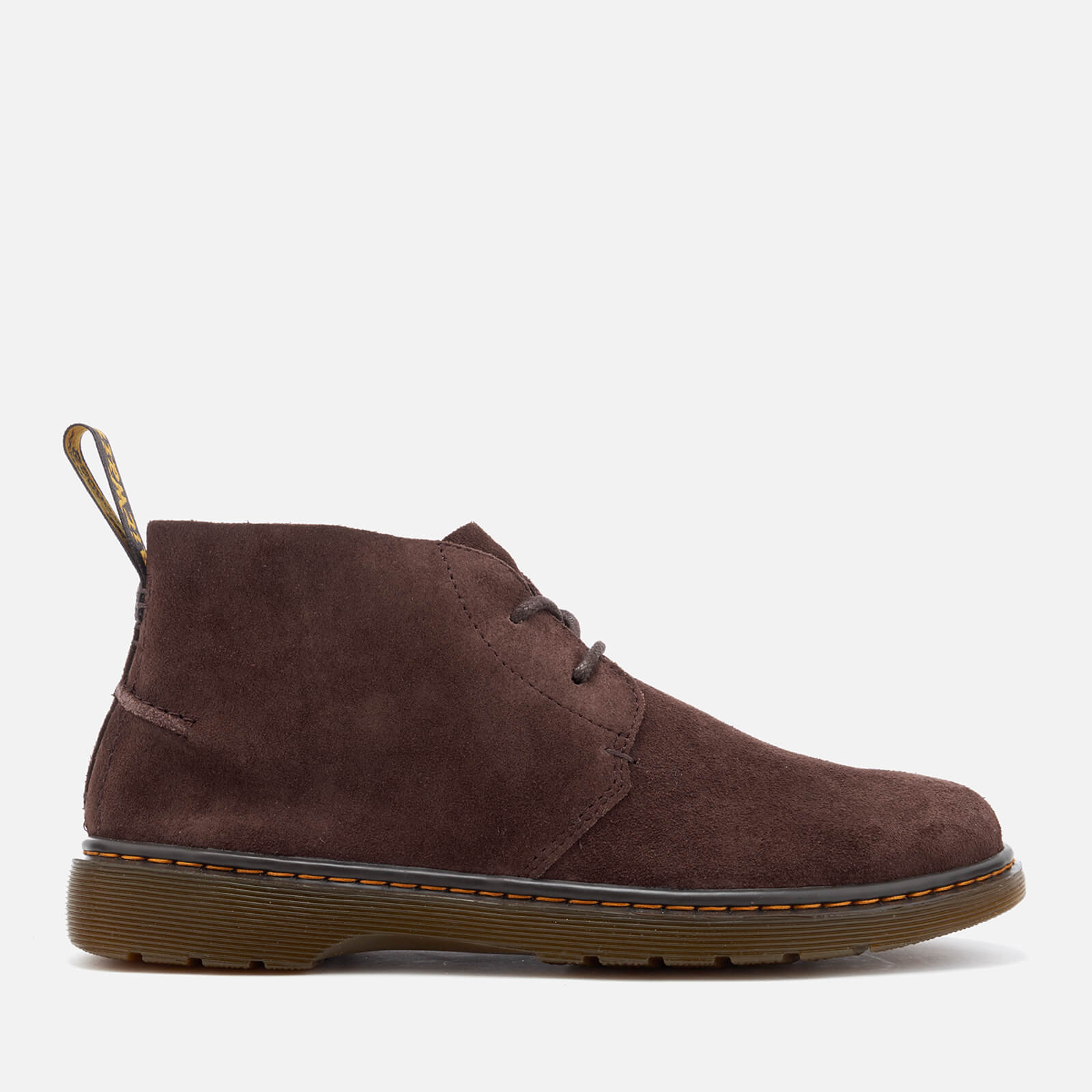 2957832652a Dr. Martens Men's Ember Bronx Suede Lace Low Boots - Dark Brown