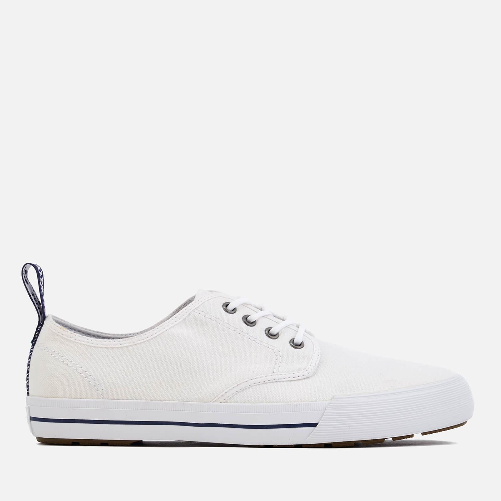 bb72426f Dr. Martens Men's Pressler Canvas Lace Shoes - White   FREE UK Delivery    Allsole