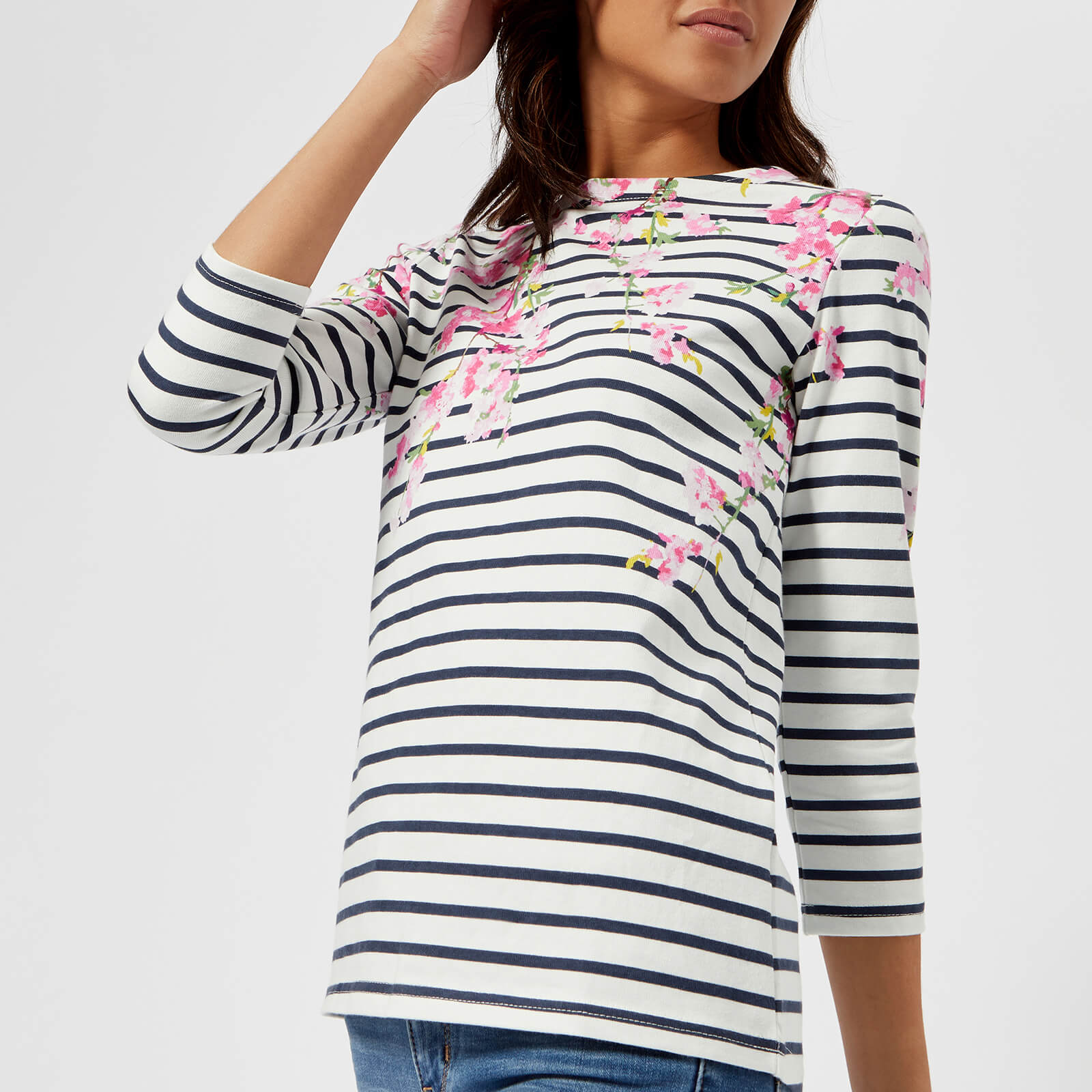 Joules Women Harbour Printed   Jersey Top Shirt in  Size 6
