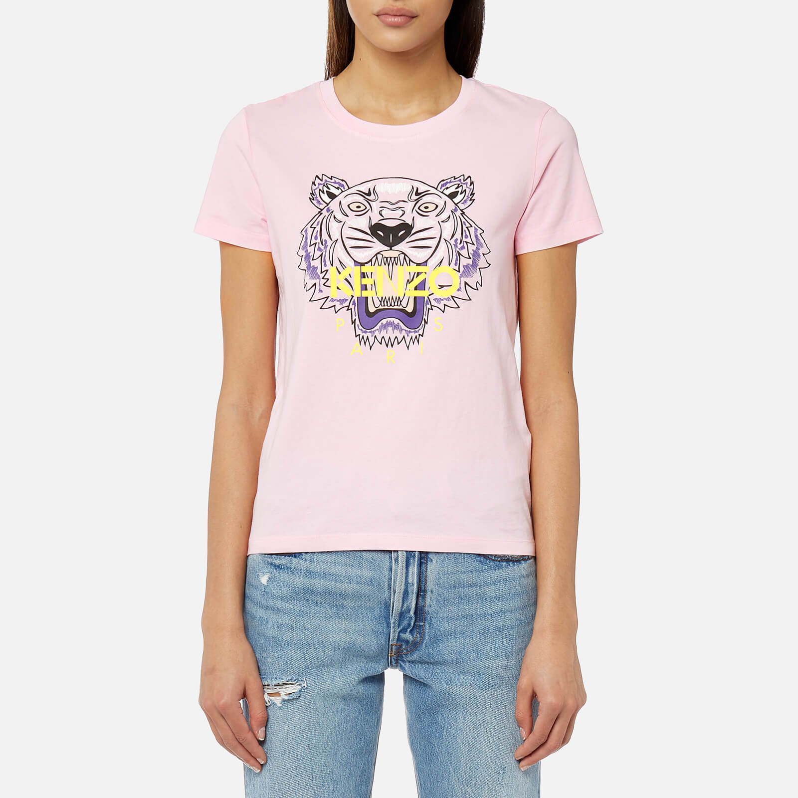 1b1337c89c66 KENZO Women's Classic Tiger T-Shirt - Flamingo Pink - Free UK Delivery over  £50
