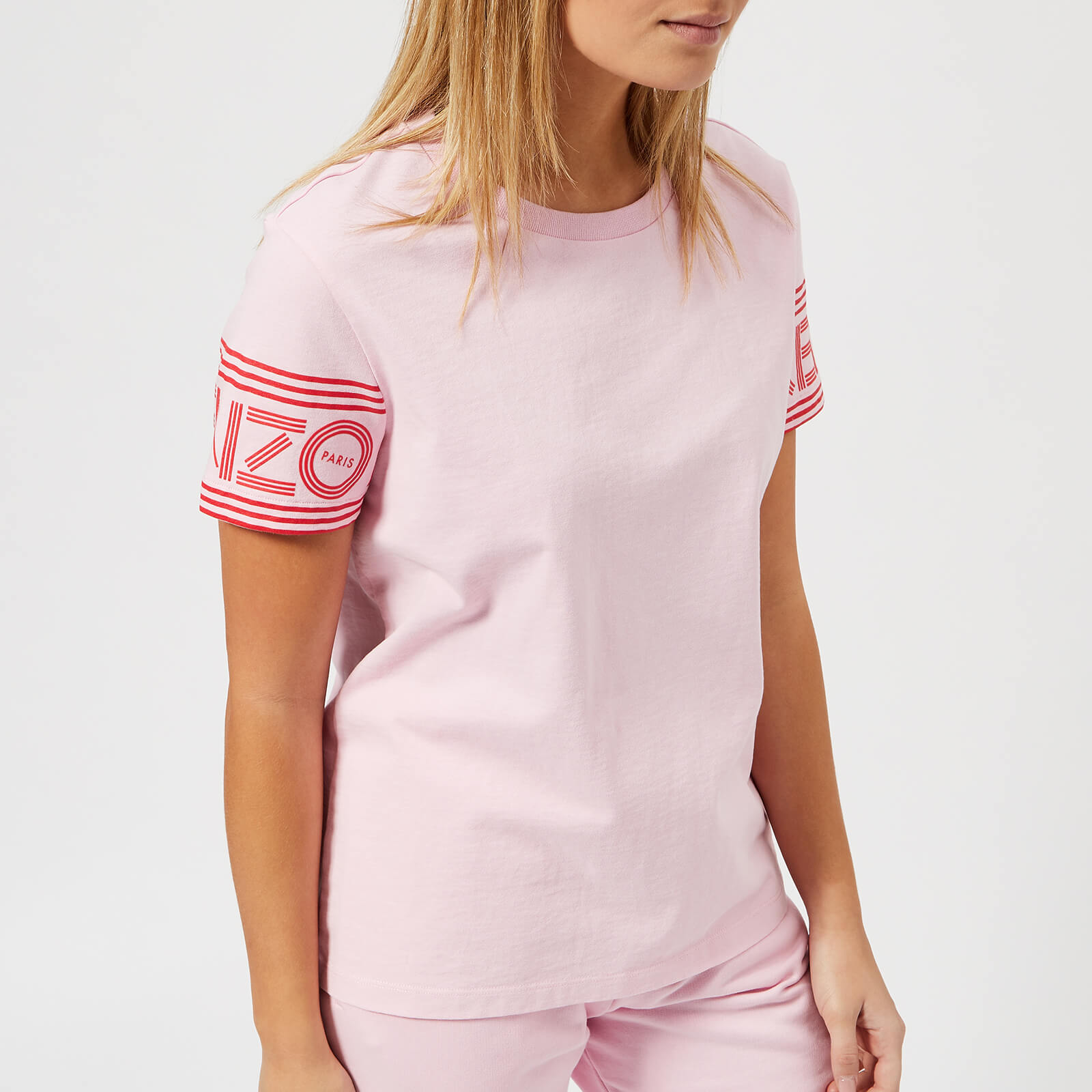 123995f56ab4 KENZO Women's Cotton Skate Jersey T-Shirt - Flamingo Pink - Free UK  Delivery over £50