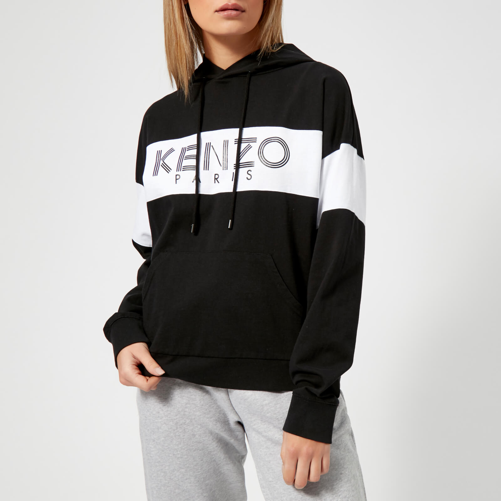 a70b8cf5 KENZO Women's Cotton Skate Jersey Hooded Jumper - Black - Free UK Delivery  over £50