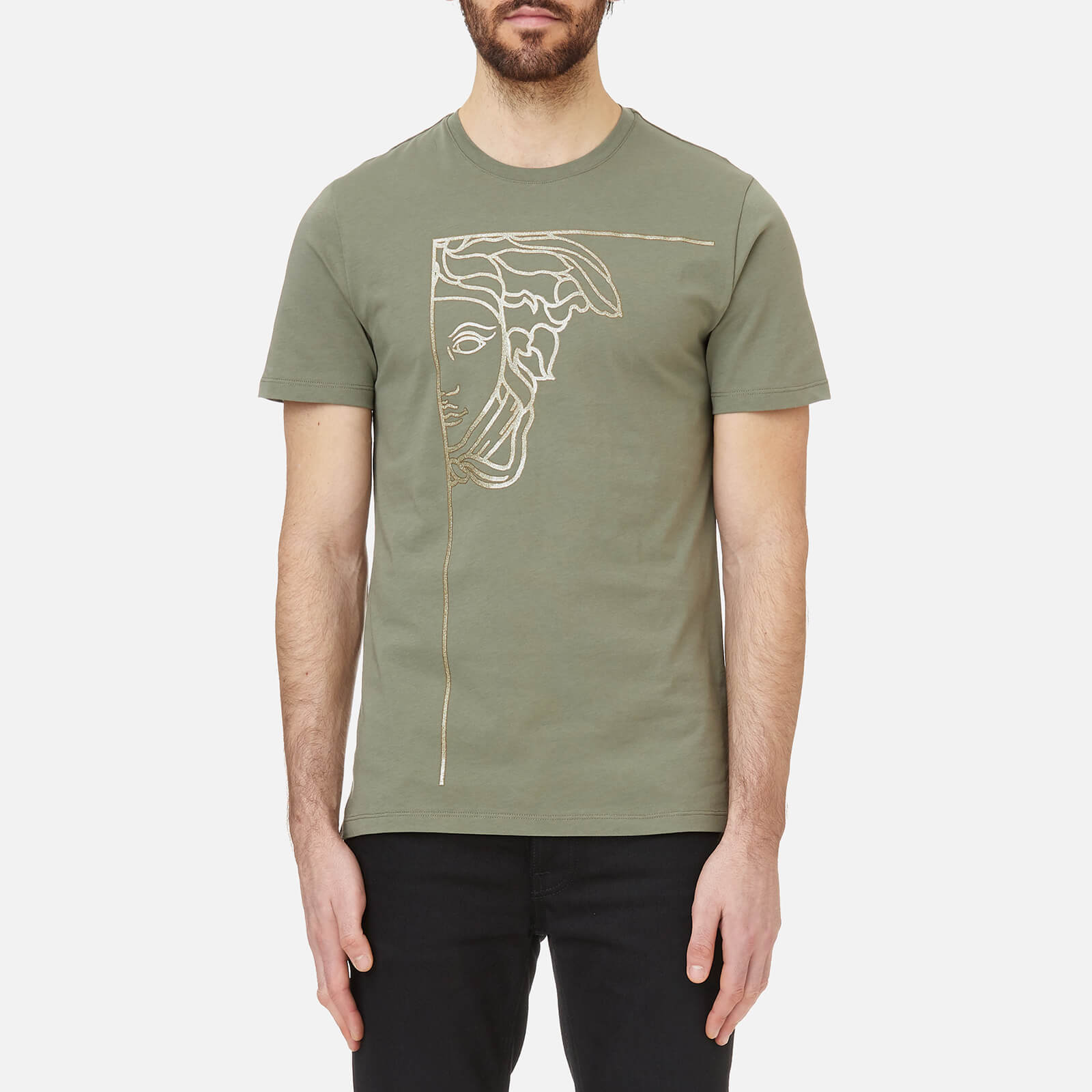 1e06f8db Versace Collection Men's Medusa Logo T-Shirt - Bronzo/Stampa Clothing |  TheHut.com
