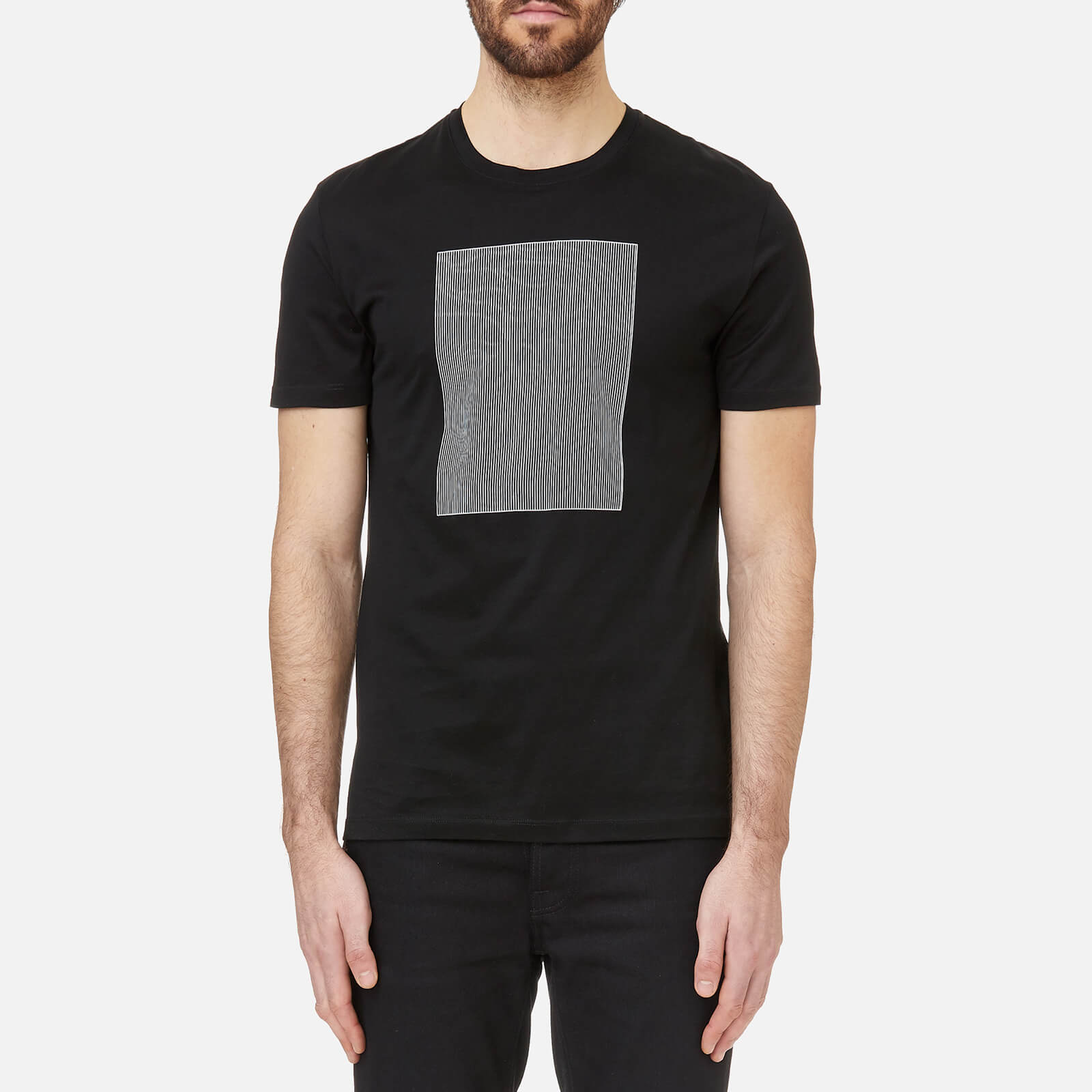 61281230 Versace Collection Men's Box Logo T-Shirt - Nero/Stampa - Free UK Delivery  over £50