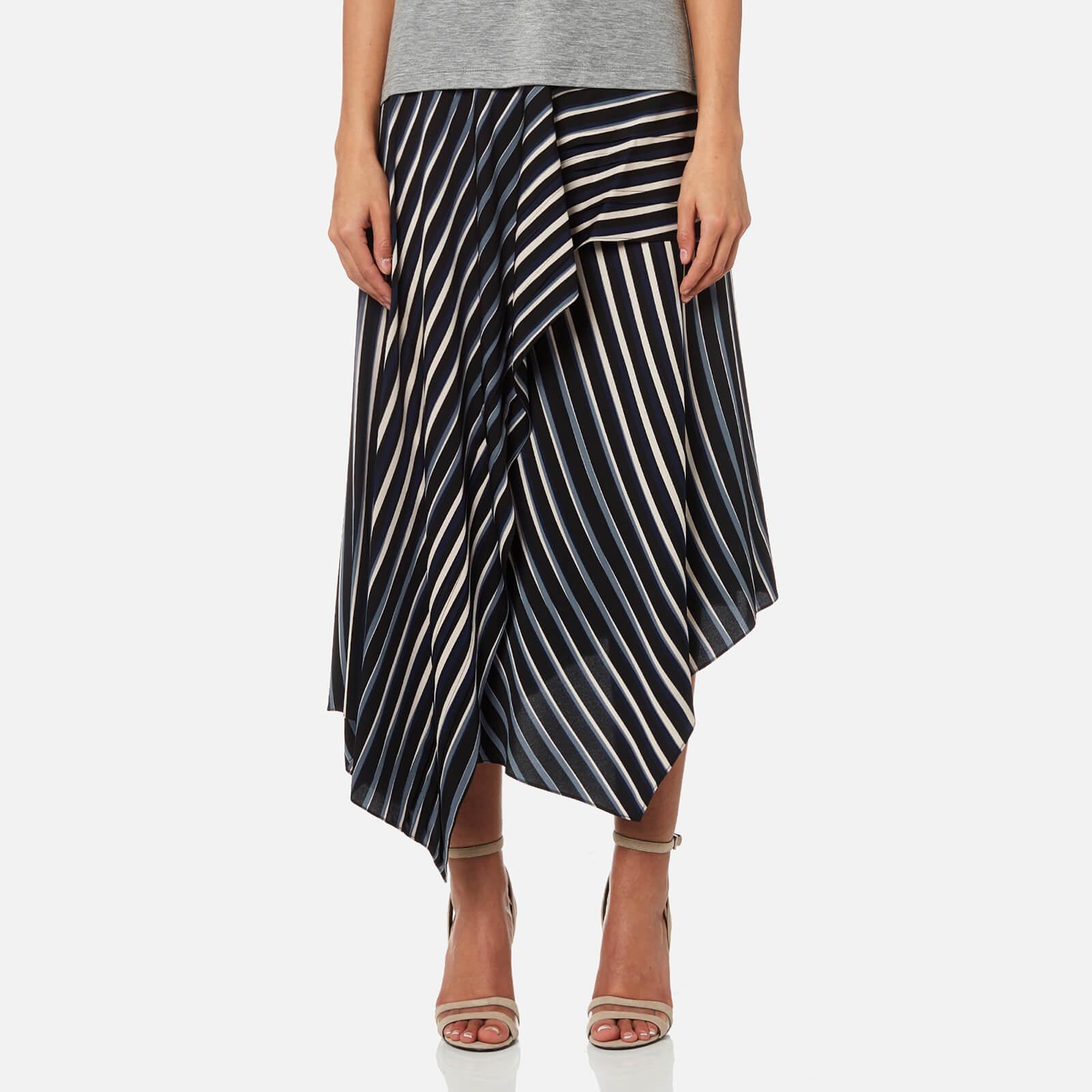 247ba6c7e1 Diane von Furstenberg Women's Draped Asymmetric Midi Skirt - Whiston Black  - Free UK Delivery over £50