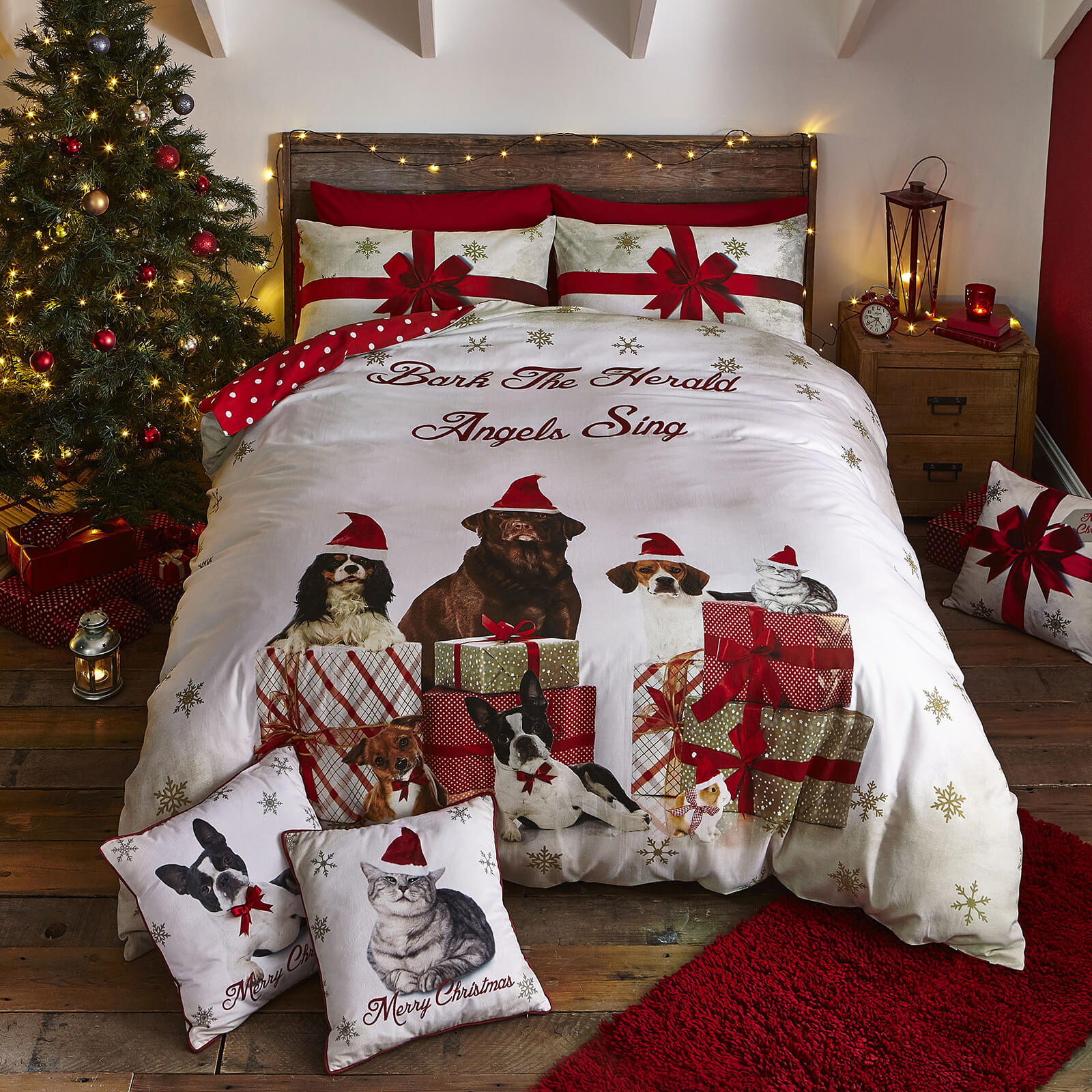 Catherine Lansfield Christmas Party Animals Duvet Set