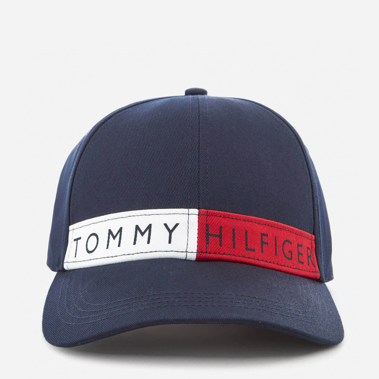 b775f13f04be6 Tommy Hilfiger Women s Logo Flag Cap - Navy Clothing