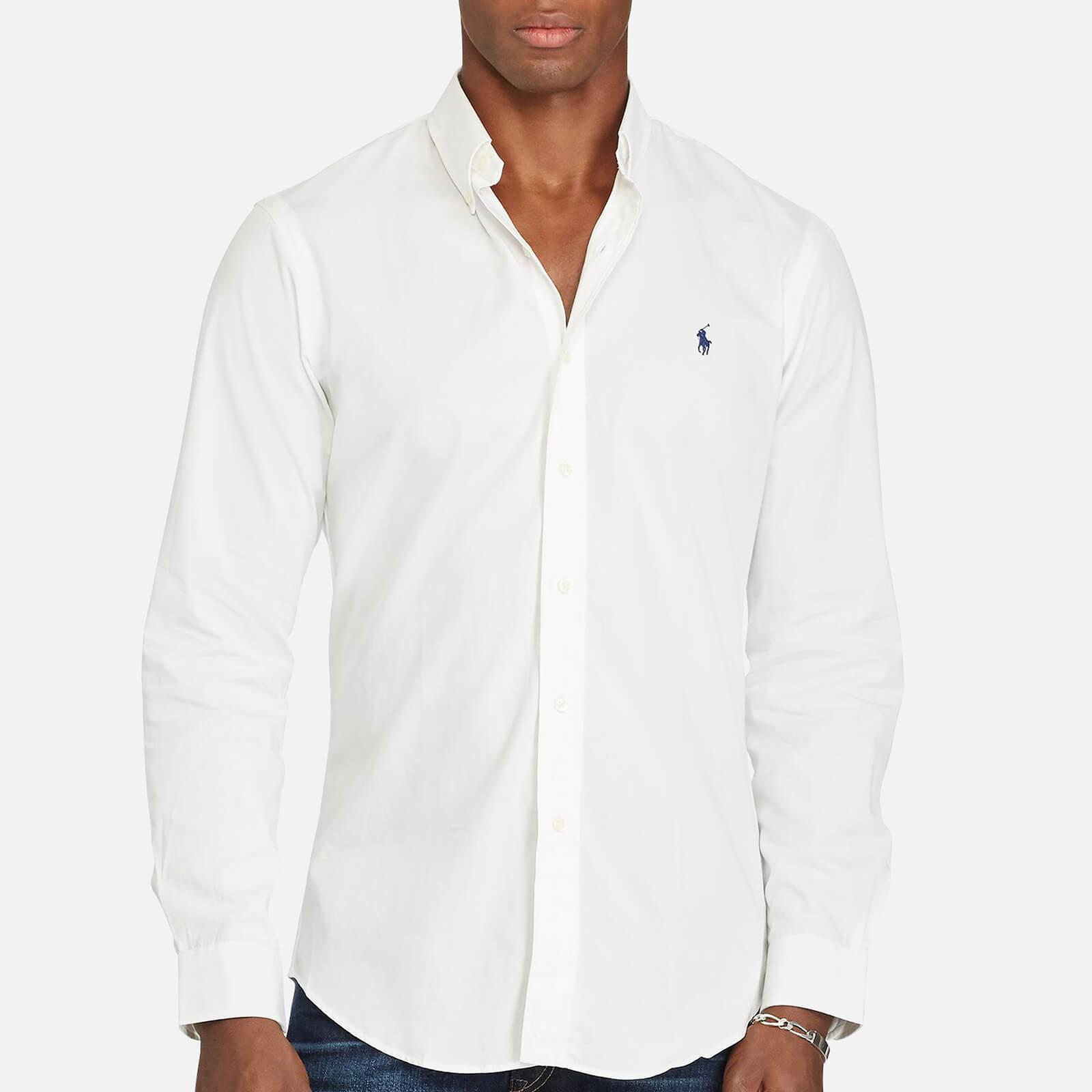 13fc1d6d06 Polo Ralph Lauren Men s Cotton Poplin Slim Long Sleeve Shirt - White - Free  UK Delivery over £50