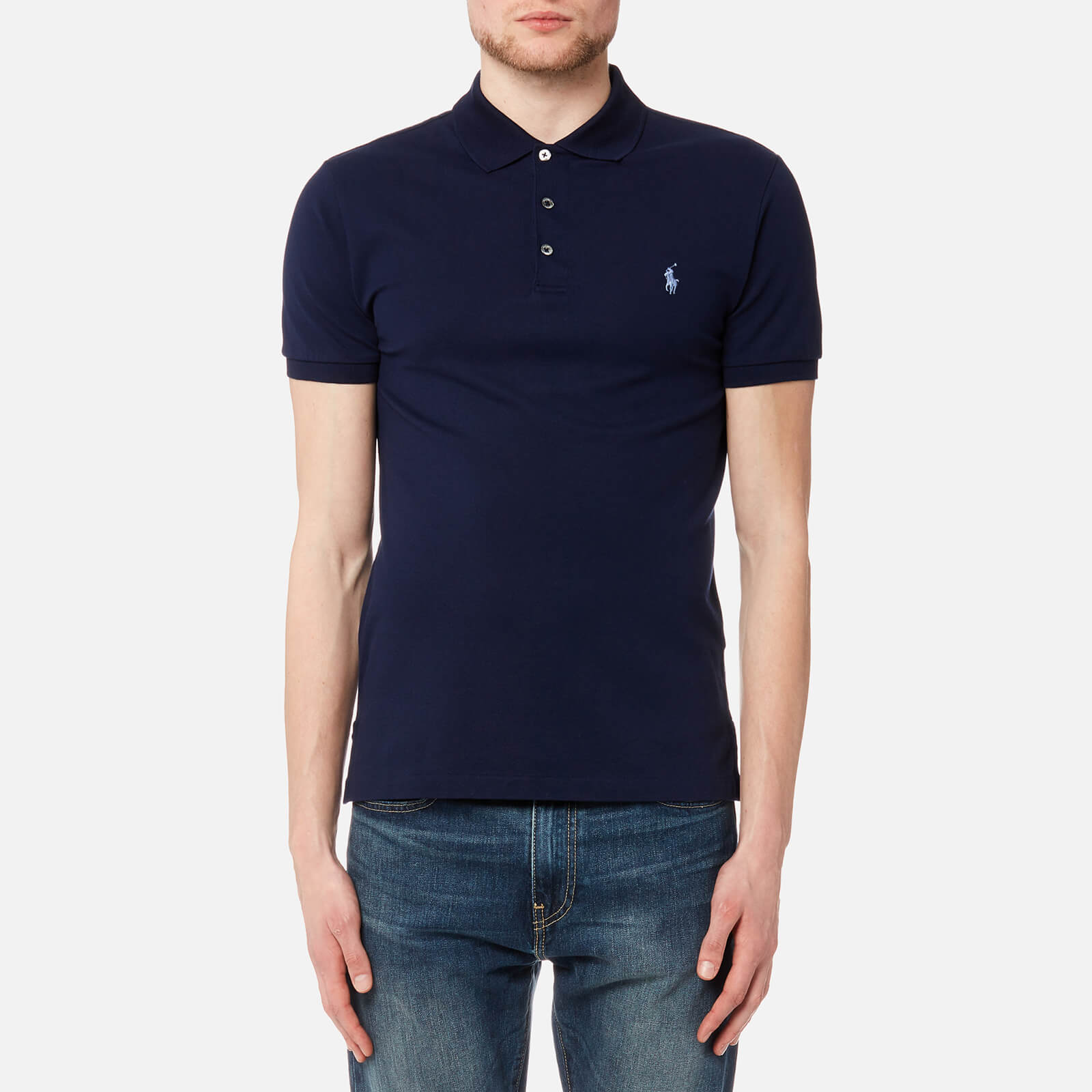 a5fad91df3f Polo Ralph Lauren Men s Slim Fit Polo Shirt - French Navy - Free UK  Delivery over £50