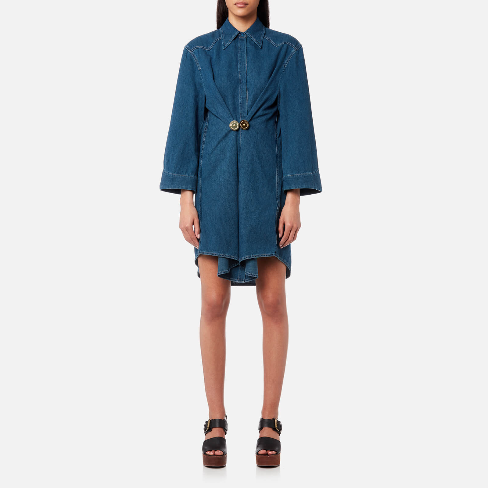 7a9d55bff7e MM6 Maison Margiela Women s Vintage Denim Shirt Dress - Medium Blue - Free  UK Delivery over £50